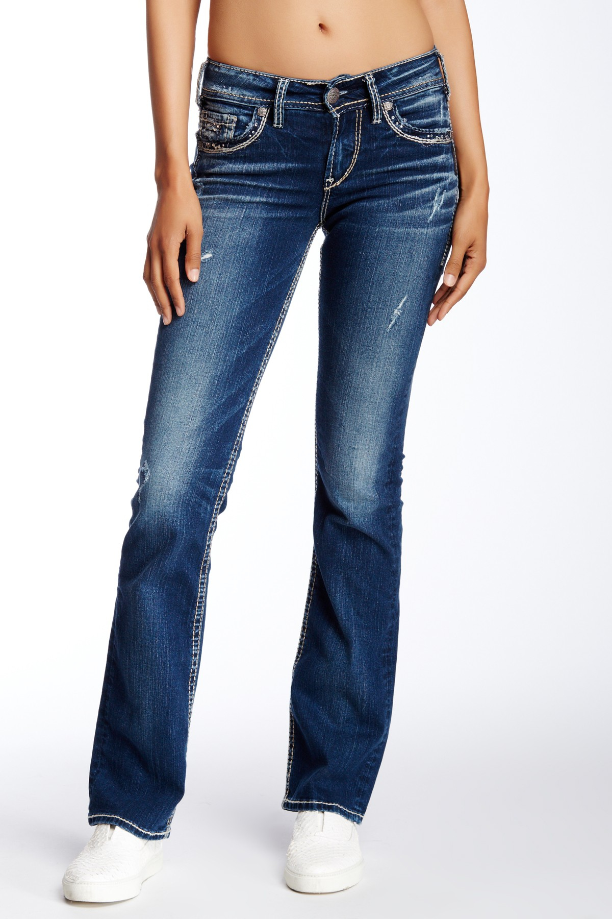 Lyst Silver Jeans Co Suki Mid Slim Bootcut Jean 33