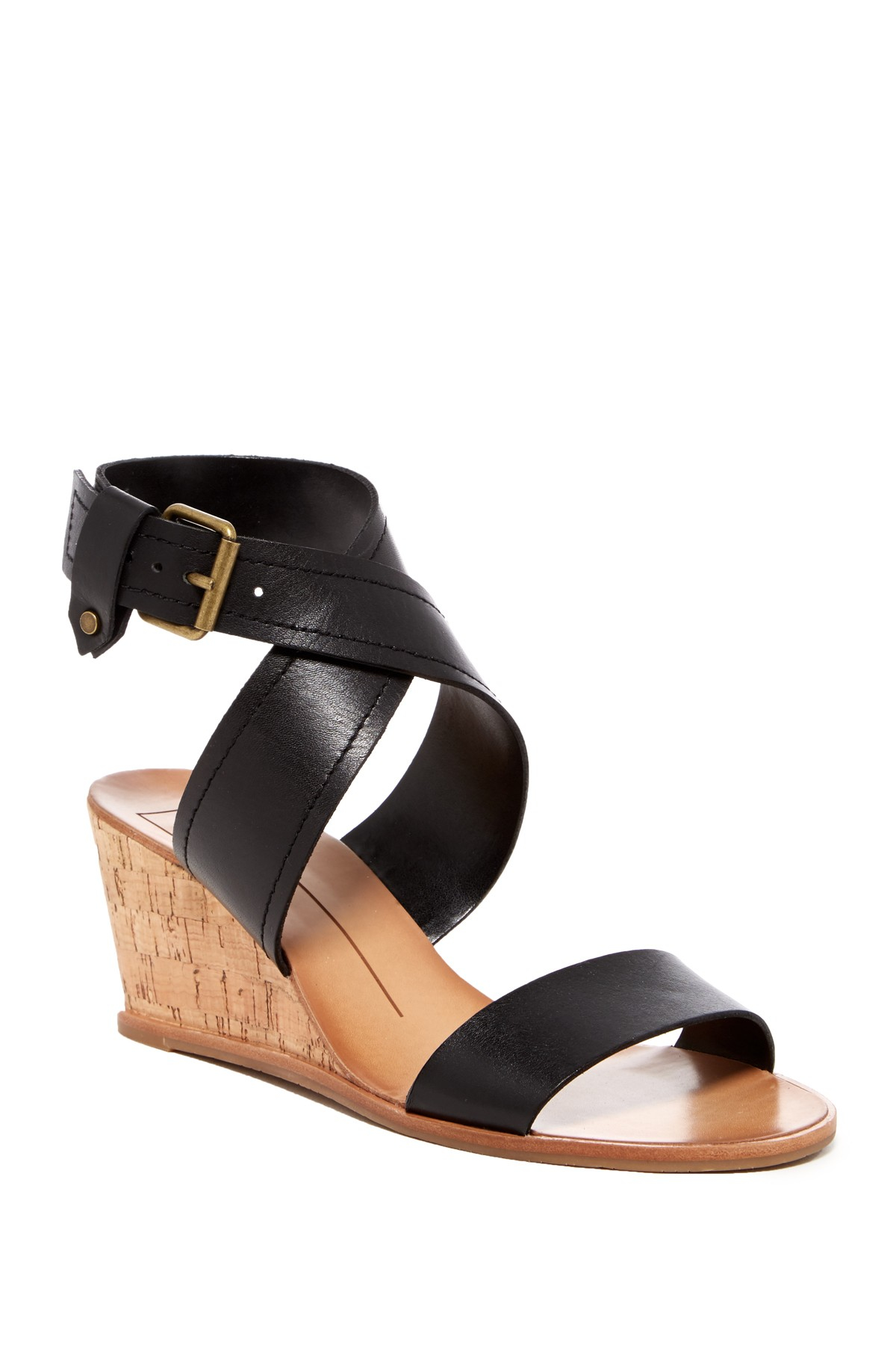 b36ec5a014f Lyst - Dolce Vita Lanston Wedge Sandal in Black