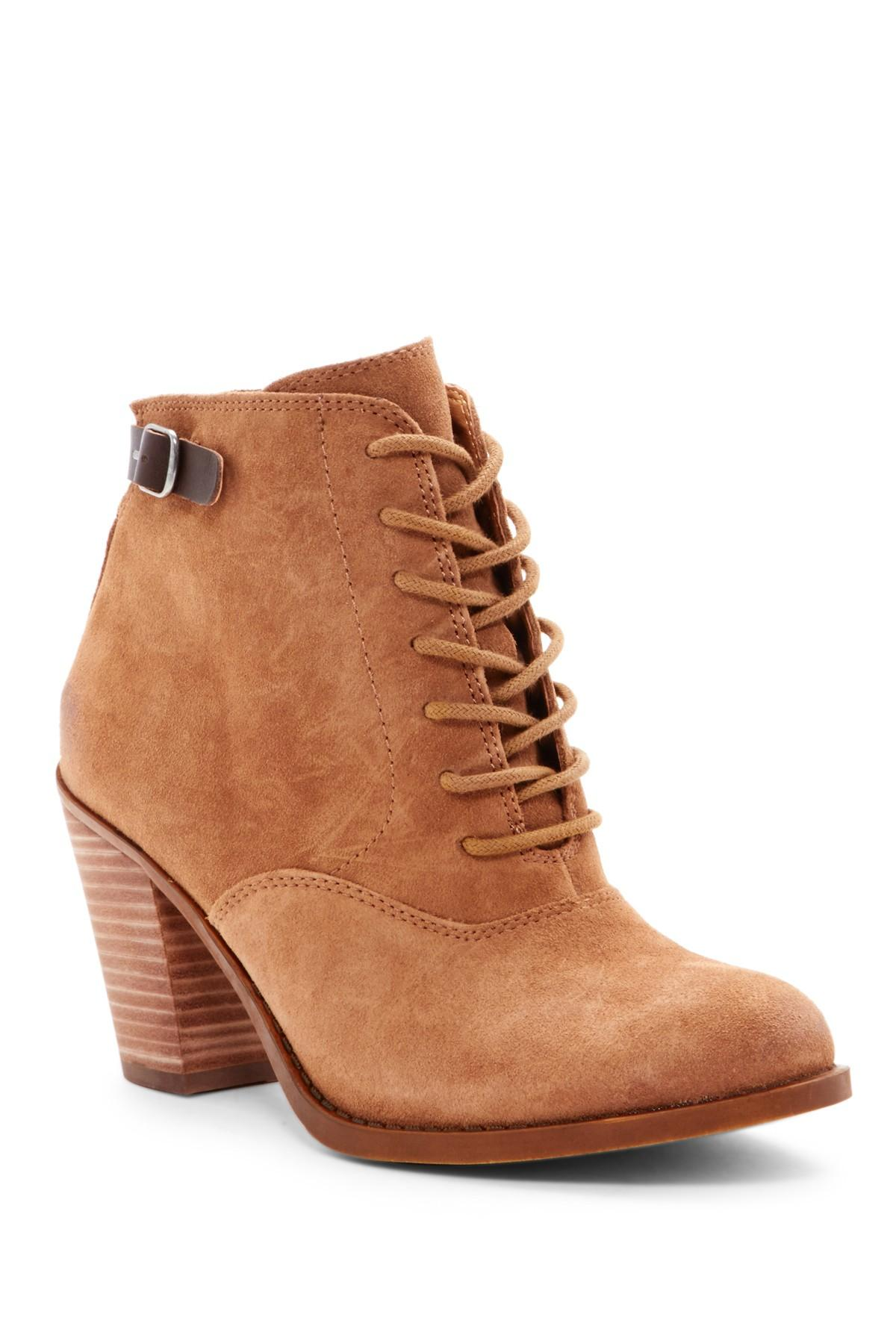 Lyst Lucky Brand Ecoch Bootie In Brown