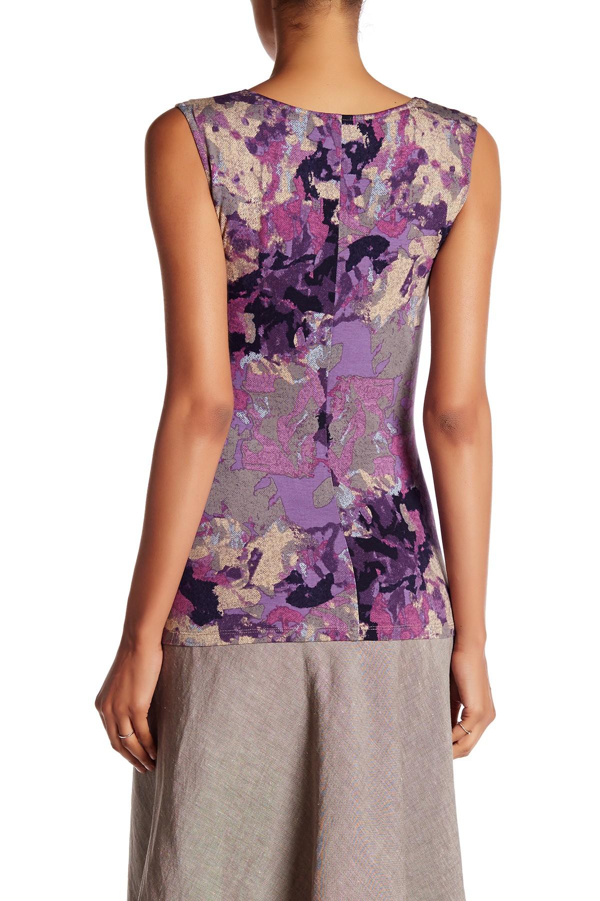 Lyst Nic Zoe Dark Bloom Wrap Blouse In Purple