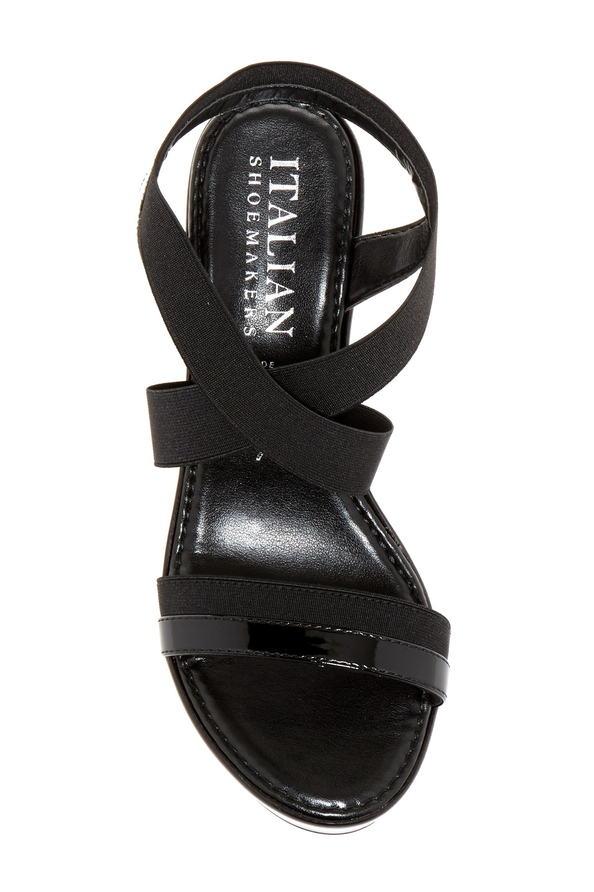 Lyst Italian Shoemakers Marnie Platform Wedge Sandal In