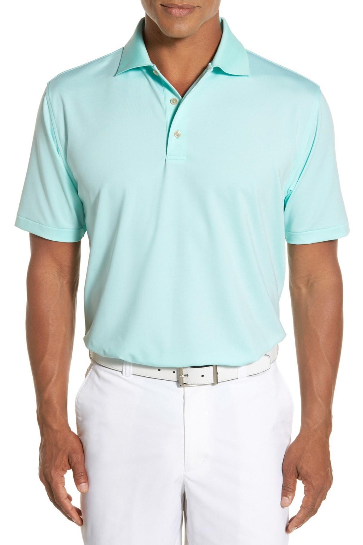 Peter millar nena stripe stretch microfiber golf polo in for Peter millar golf shirts