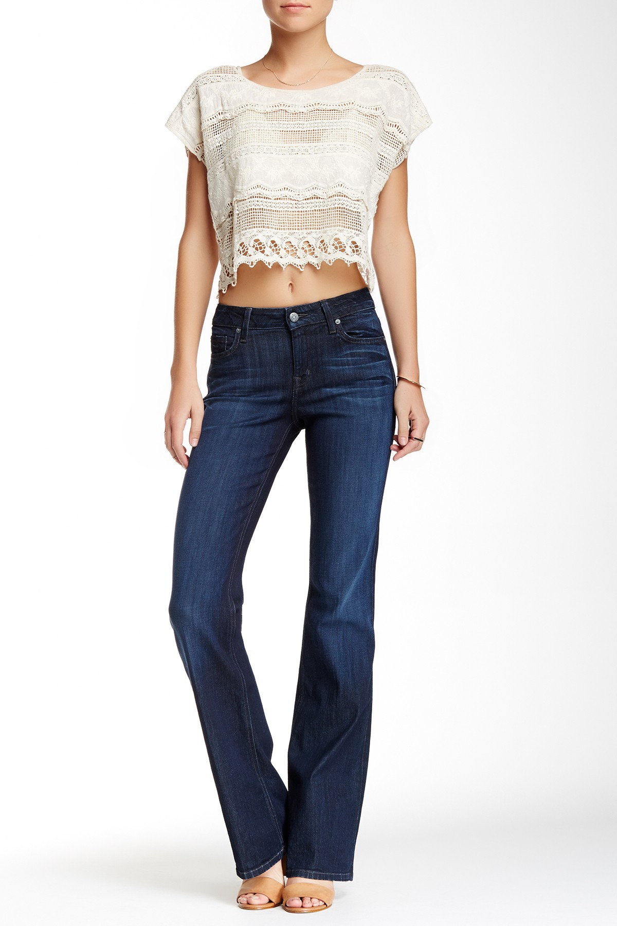 Level 99 Chloe Mid Rise Bootcut Jean In Blue Lyst