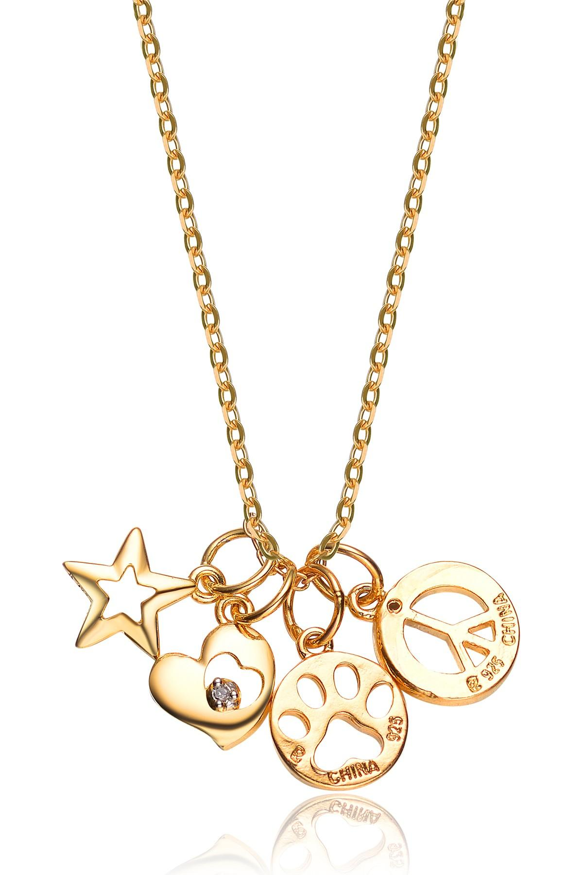 Lyst Genevive Jewelry Gold Plated Sterling Silver Cz