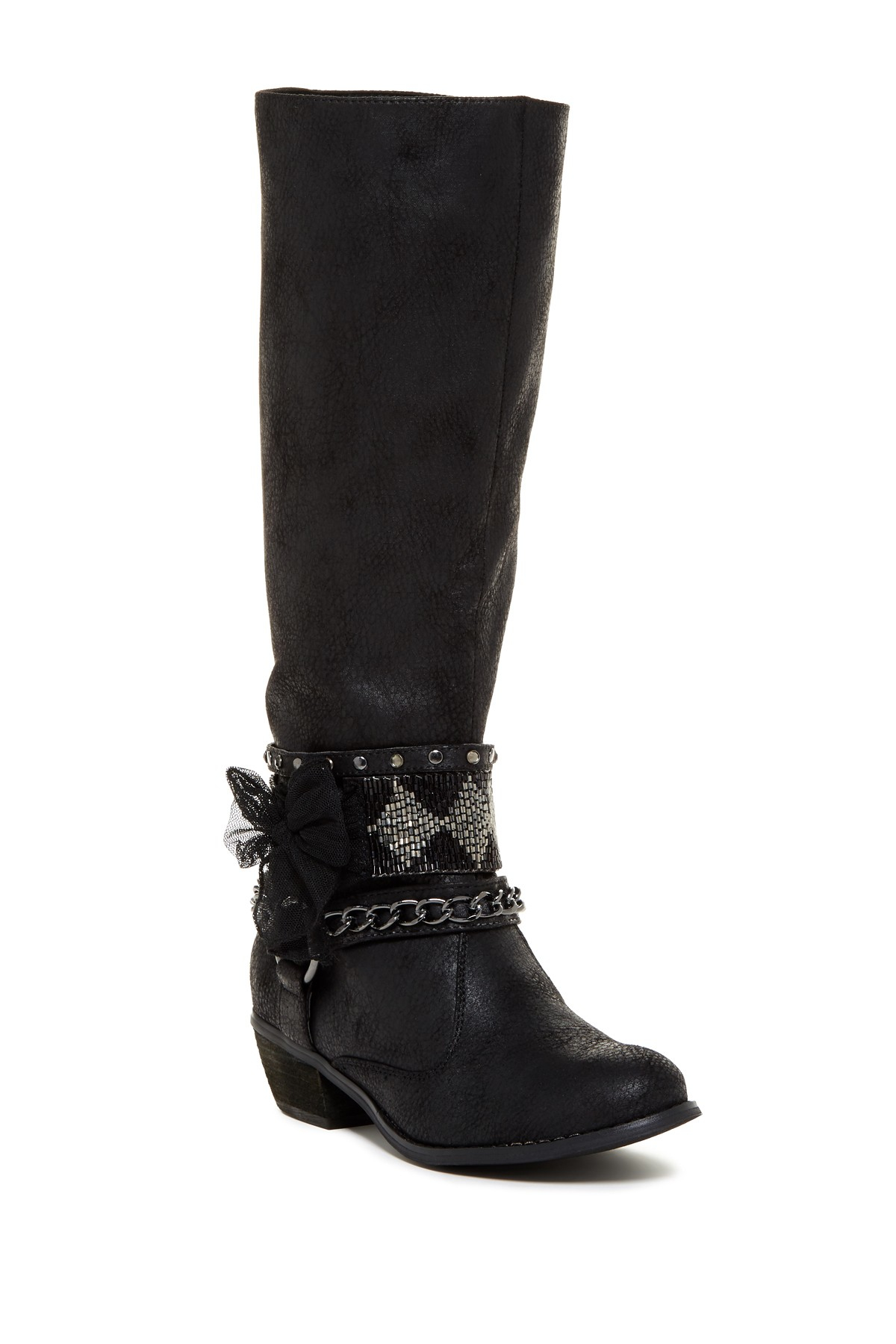 Lyst Not Rated High Status Embellished Knee High Boot In