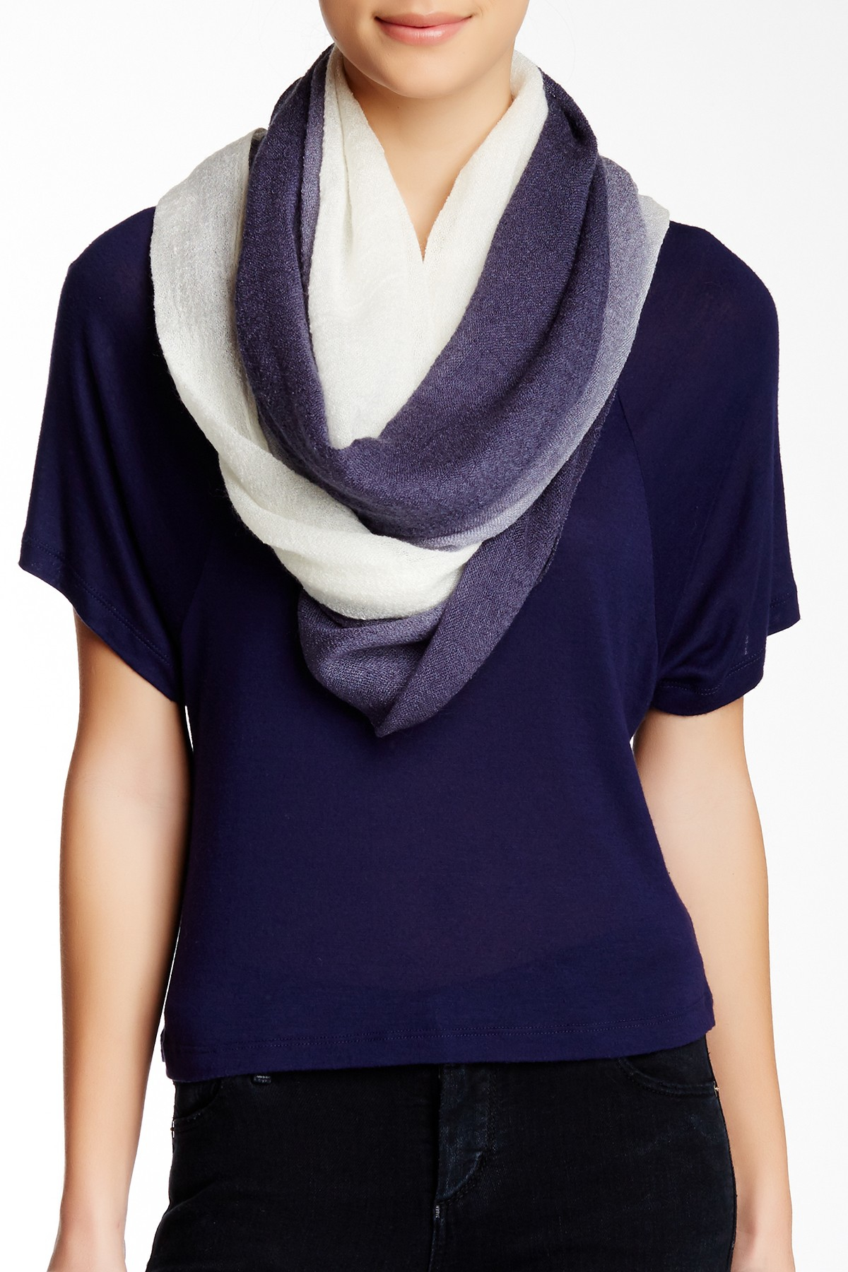 blue pacific ombre gauze infinity scarf in blue lyst