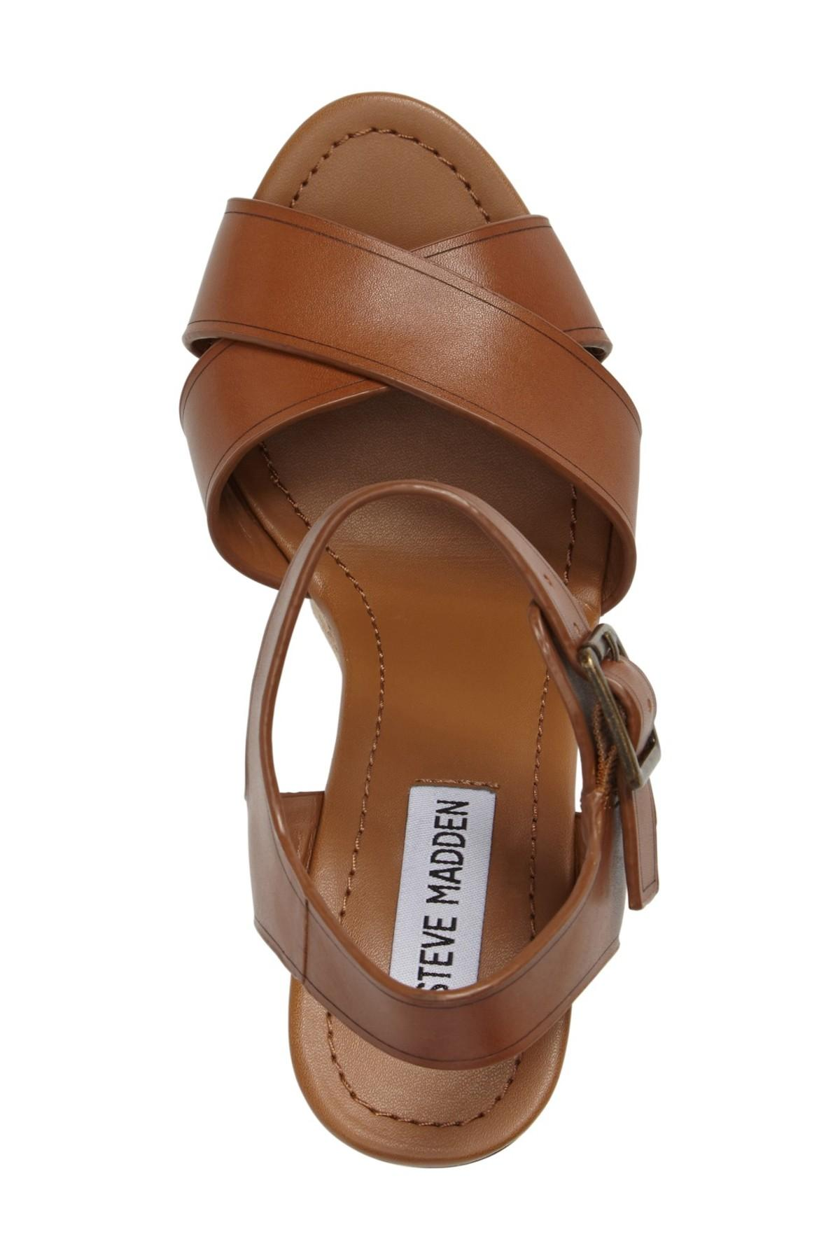 Lyst Steve Madden Paso Espadrille Wedge Sandal In Brown
