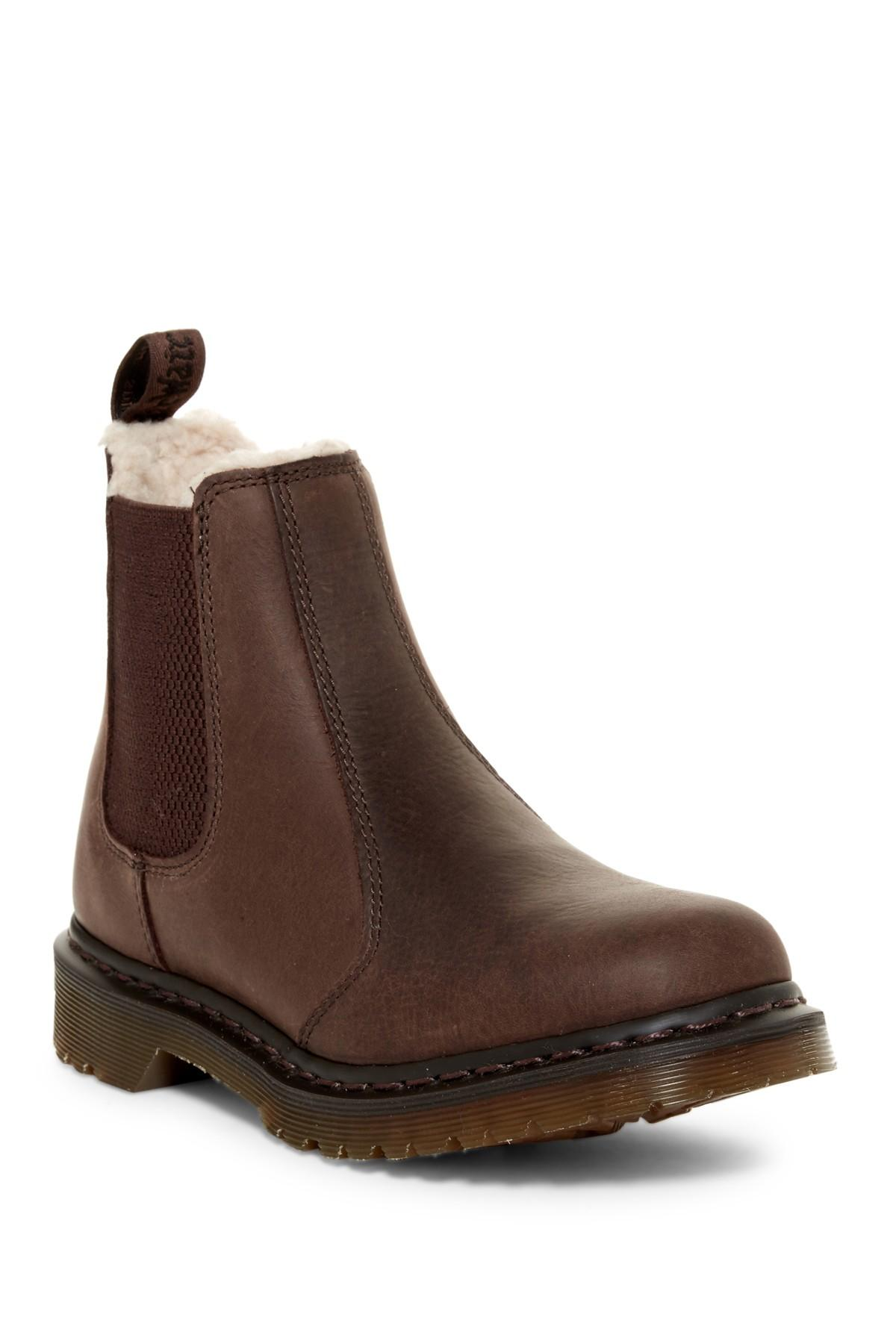 Lyst Dr Martens Leonore Faux Fur Lined Boot In Brown