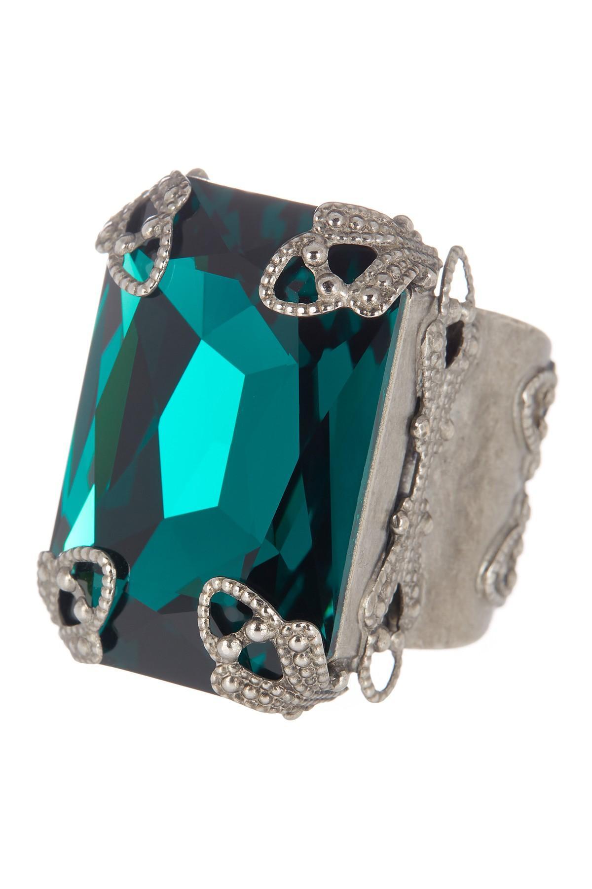 Lyst Sorrelli Large Emerald Cut Swarovski Crystal