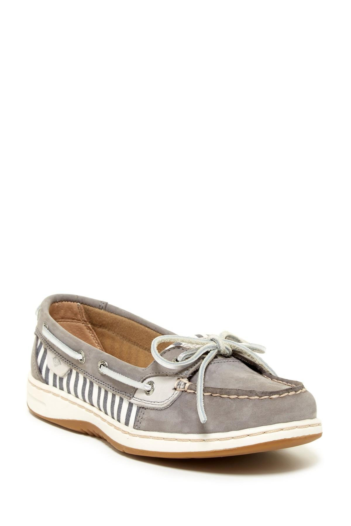 Lyst sperry top sider angel fish paint striped boat shoe for Best boat shoes for fishing