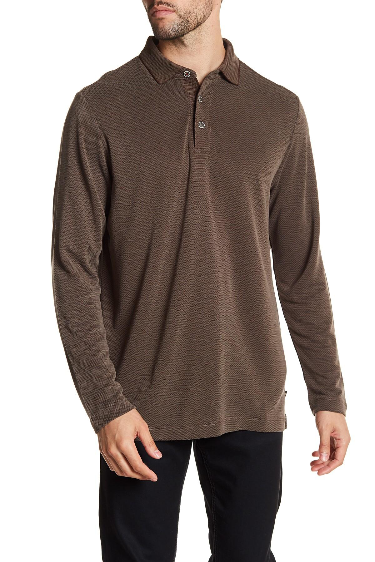 Lyst tommy bahama new ocean view long sleeve polo shirt for Tommy bahama long sleeve dress shirts
