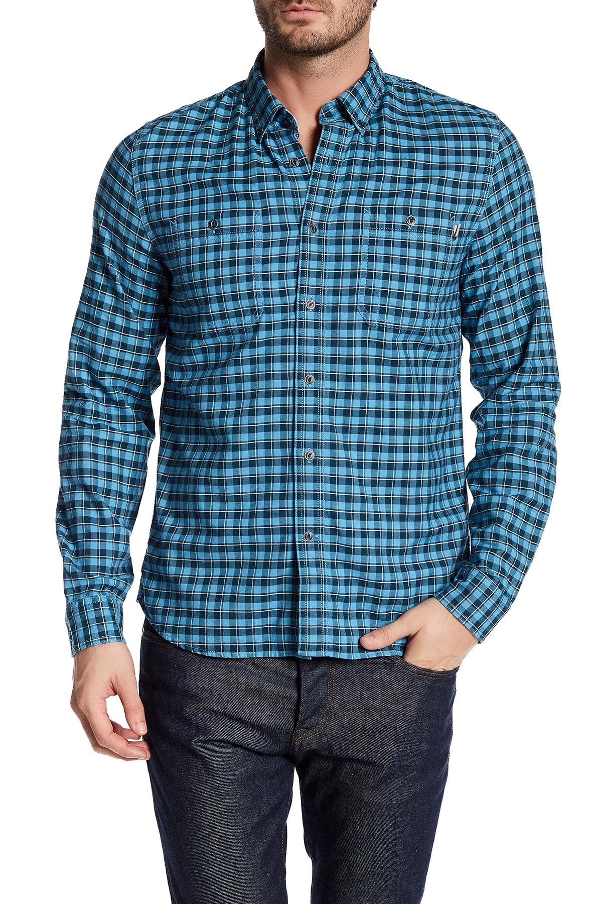 Timberland long sleeve oxford button down slim fit shirt for Men oxford slim fit long sleeve shirt