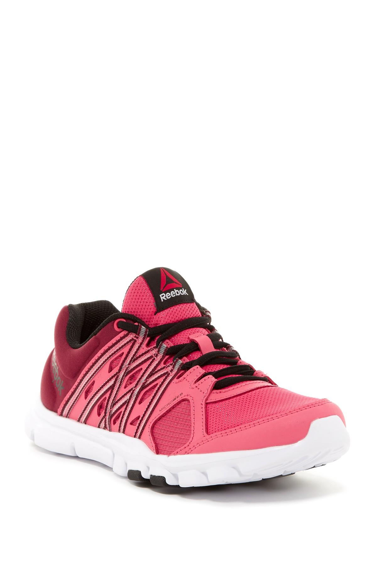 b88e03168c4954 Lyst - Reebok Yourflex Trainette 8.0 Lmt Sneaker in Pink