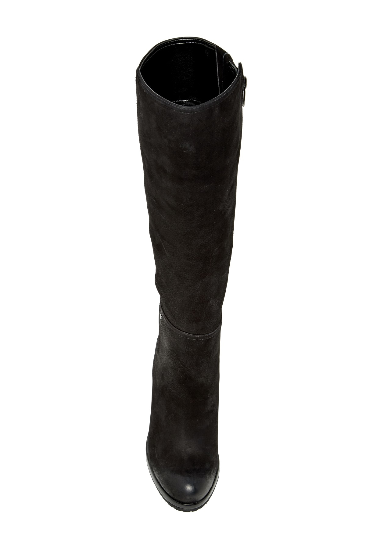 vince camuto justine wedge boot in black lyst