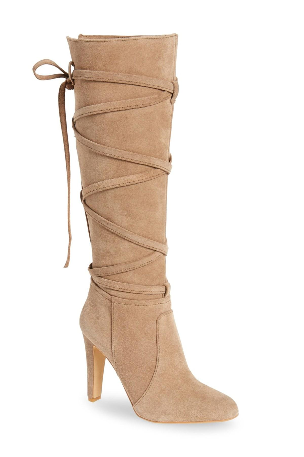 40e1c2072a7 Lyst - Vince Camuto Millay Tall Boot in Natural