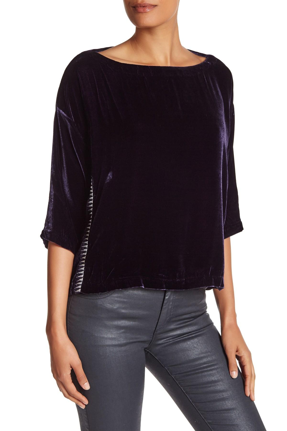 Lyst Zadig Amp Voltaire Tatia Deluxe Blouse In Purple
