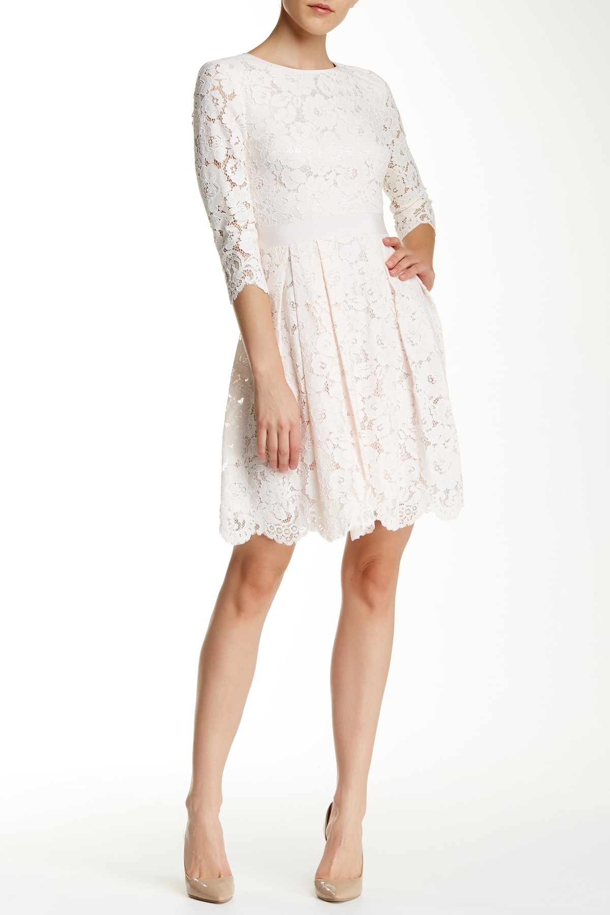 Ted Baker Ameeya Lace Dress In Pink Lyst