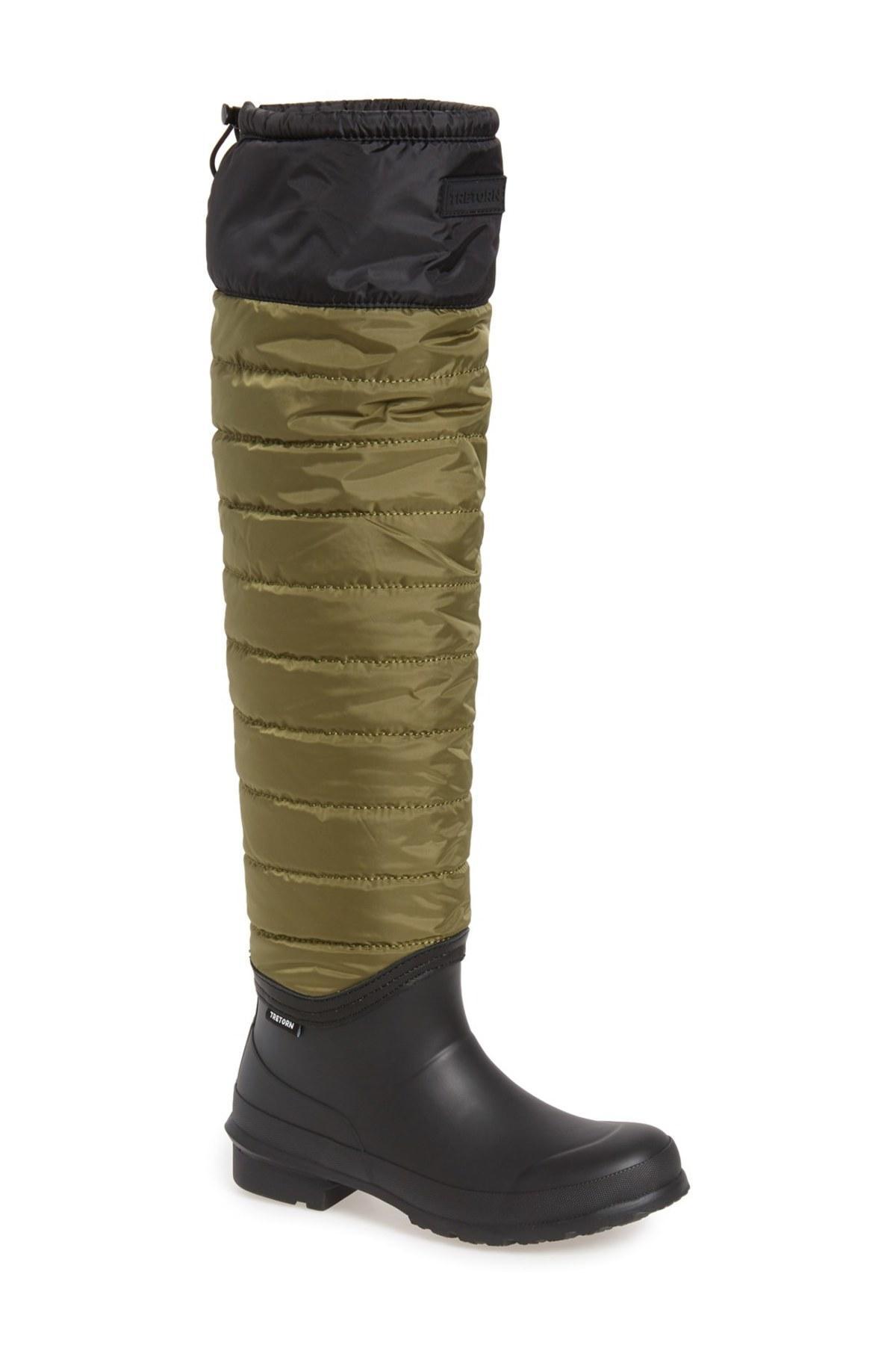 Lyst Tretorn Harriet Over The Knee Rain Boot In Green