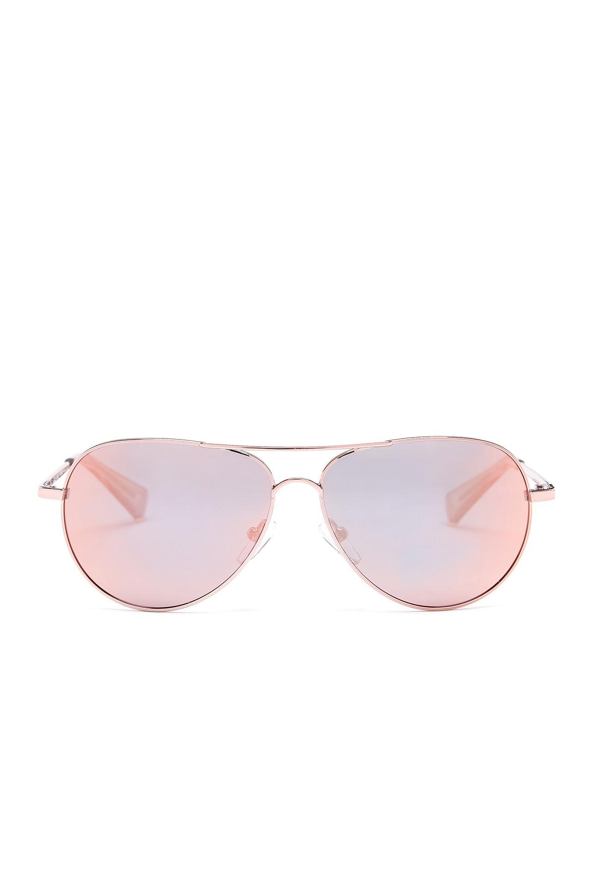 50880c179c Cole Haan Small Aviator Metal Frame Sunglasses in Pink - Lyst
