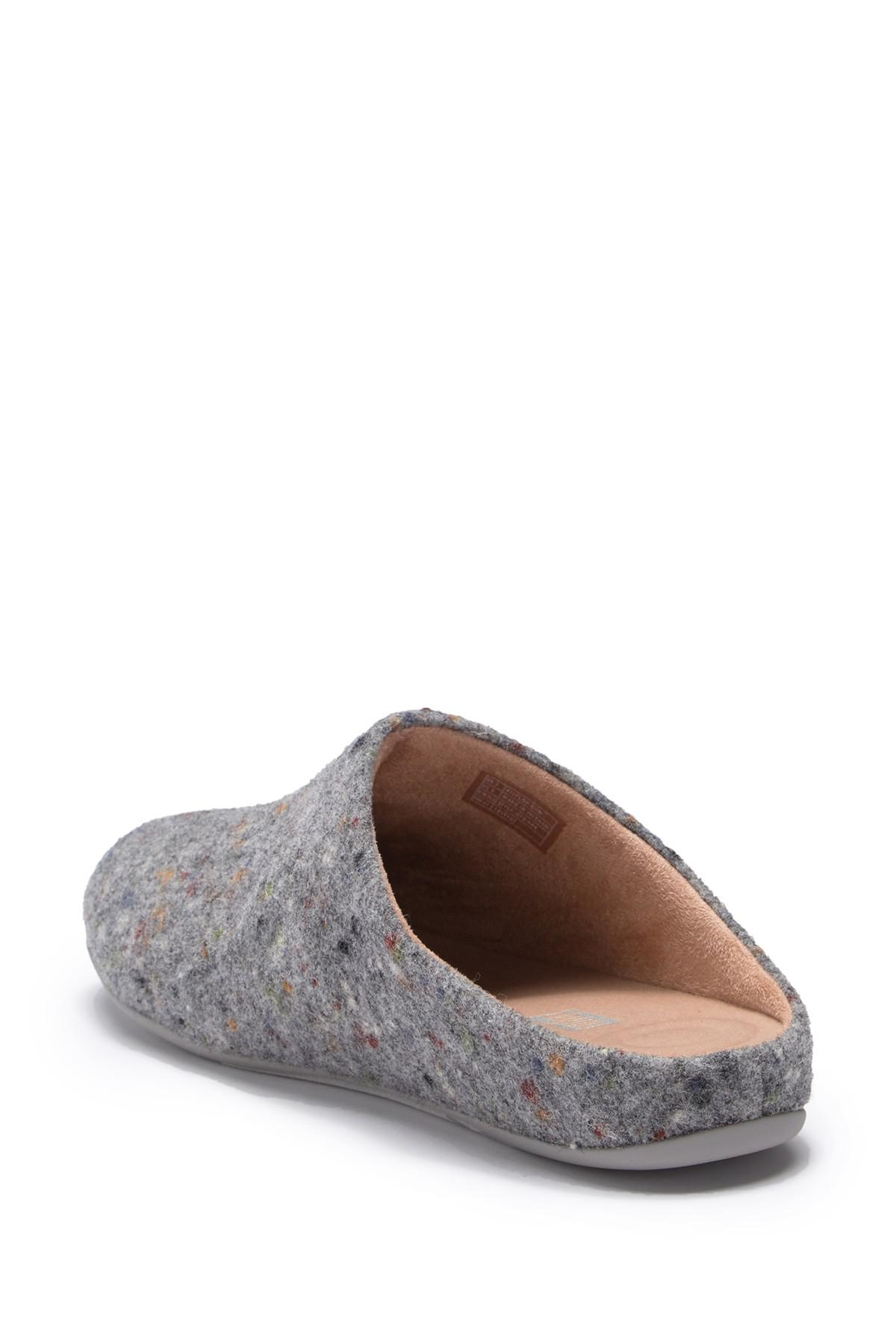 f30a5e83373d Fitflop Chrissie Speckle Felt Slippers in Gray - Lyst
