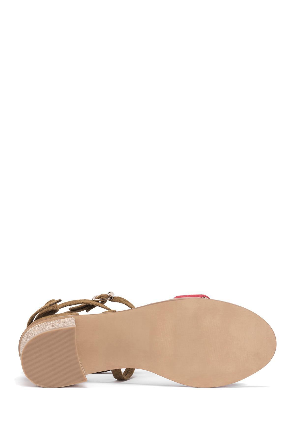 37154a26224f Lyst - Muk Luks Sasha Heeled Sandal