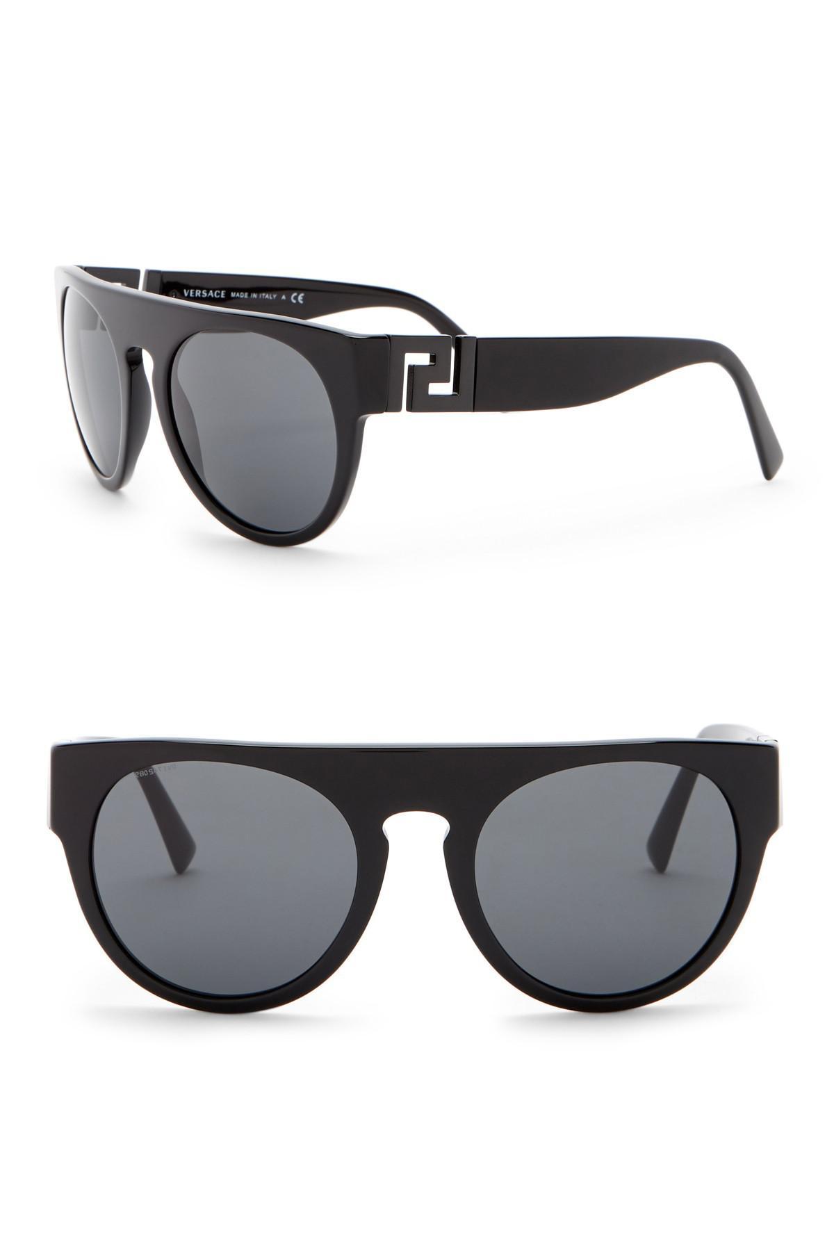 396553fec1b3 Lyst - Versace 55mm Round Sunglasses in Gray for Men
