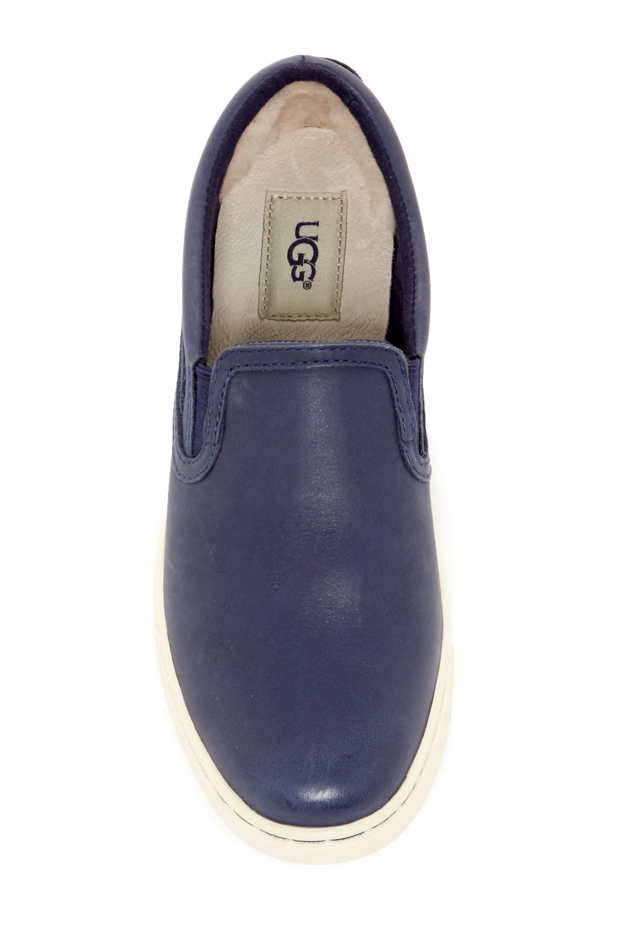 f7404166b98 Lyst - UGG Fierce Leather Uggpure(tm) Lined Slip-on Sneaker in Blue ...