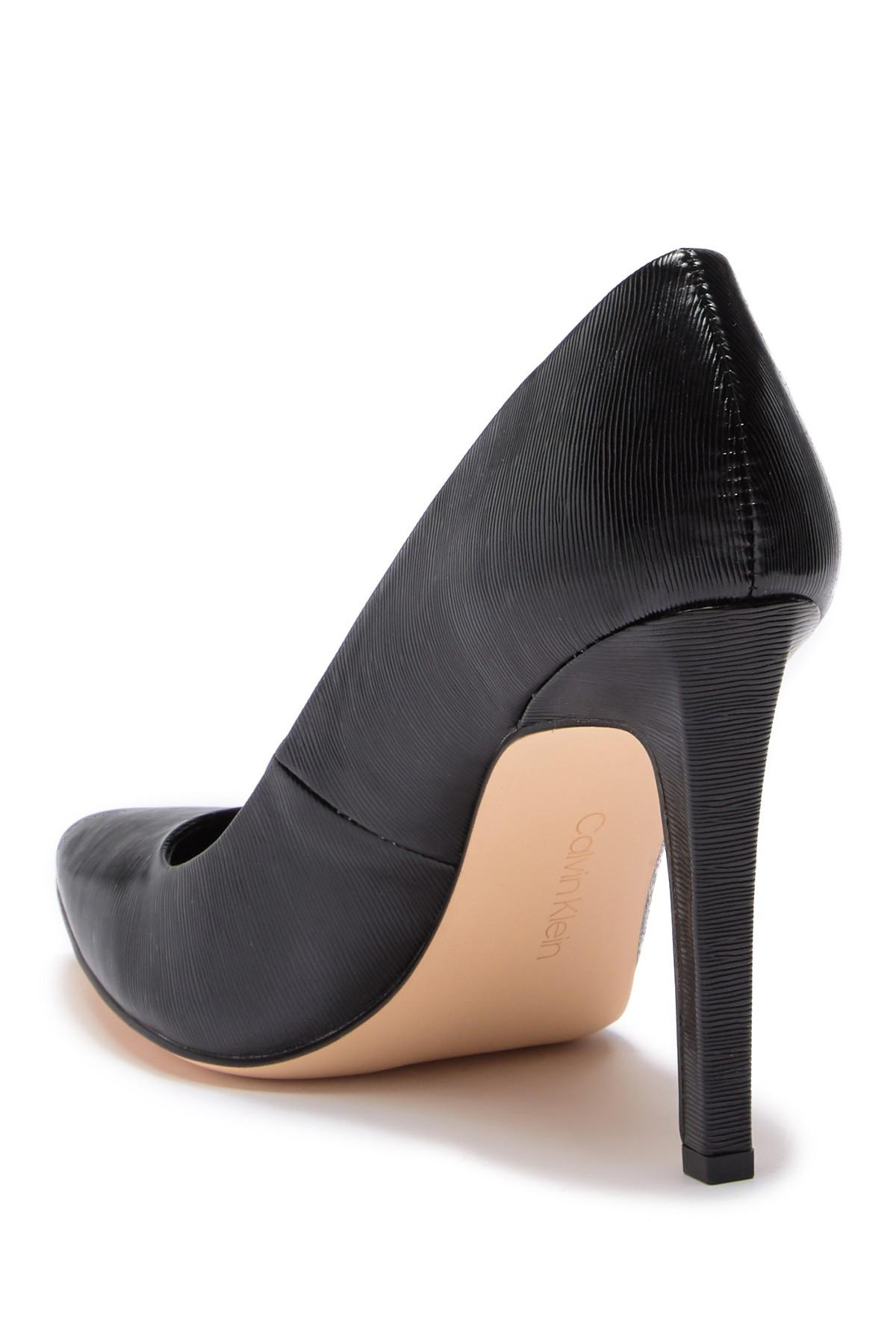 e2229c1f8e0 Calvin Klein - Black Brady Liquid Smooth Patent Pump - Lyst. View fullscreen