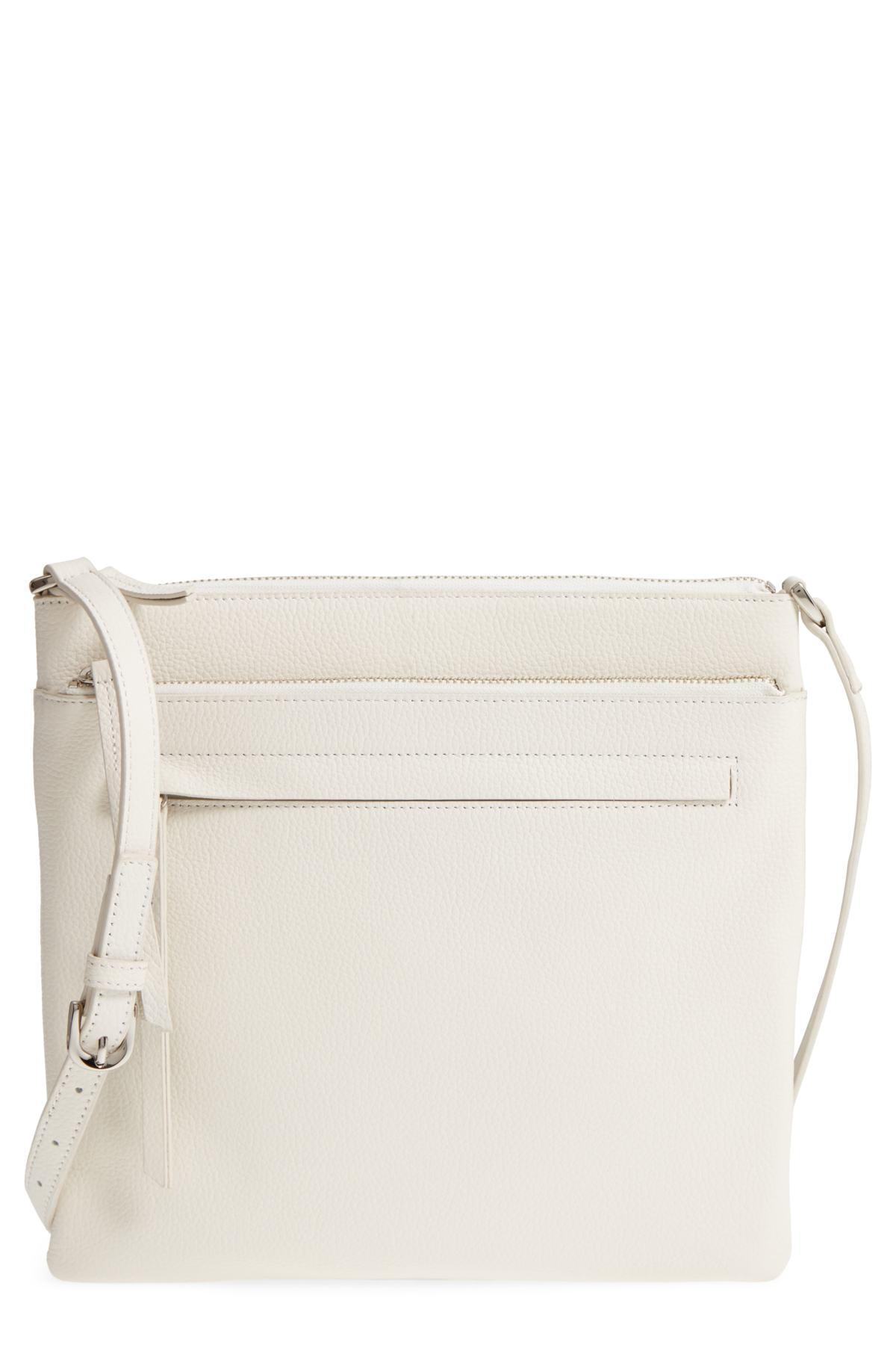 29f346874735 Lyst - Nordstrom Finn Leather Crossbody Bag in White