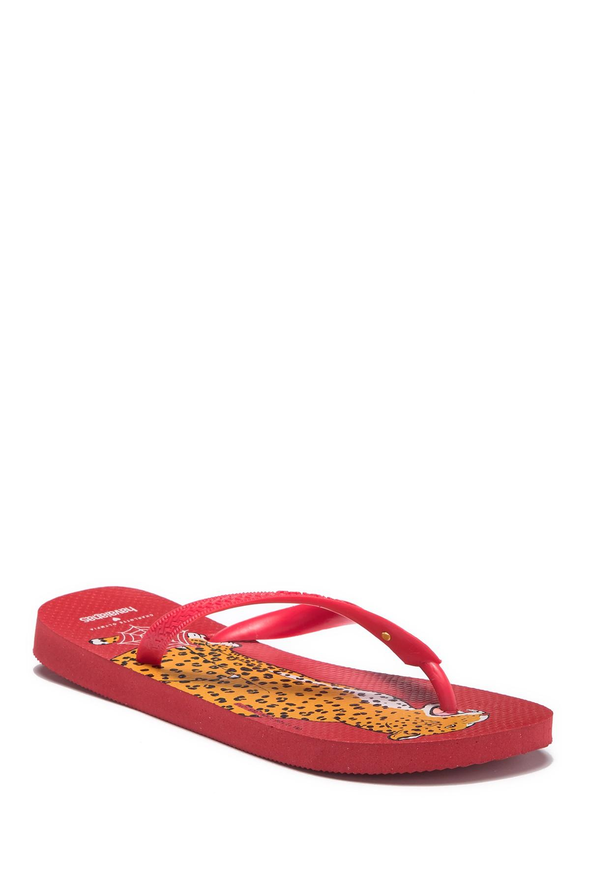 5a671f041 Havaianas - Red Charlotte Olympia Bruce Top Sandal - Lyst. View fullscreen