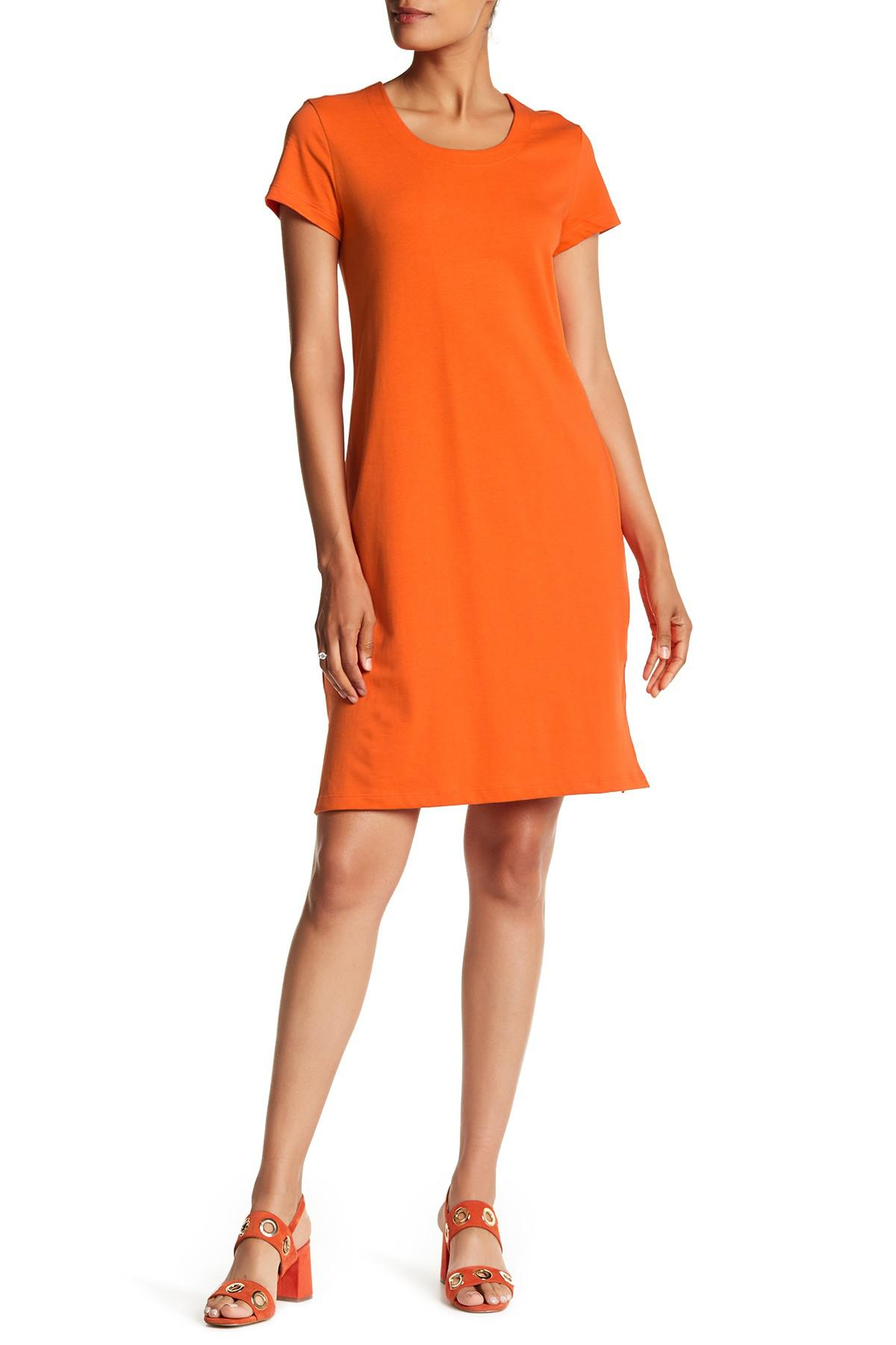 d02ded4e3d0 Lyst - Tommy Bahama Playa Del Jersey Tee Dress in Orange