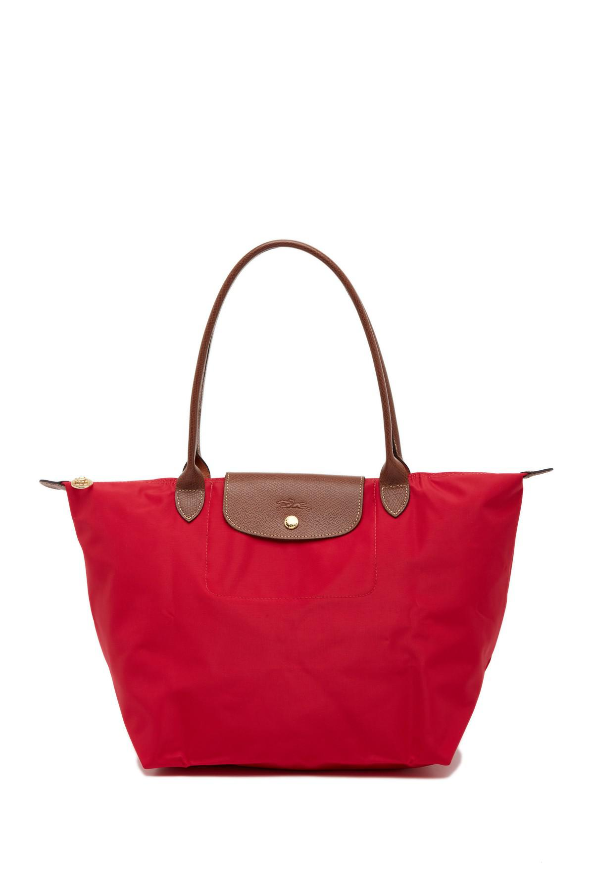 Lyst - Longchamp Le Pl Lg Shldr Tote in Red - Save 10.112359550561791% 7eafed8bc6