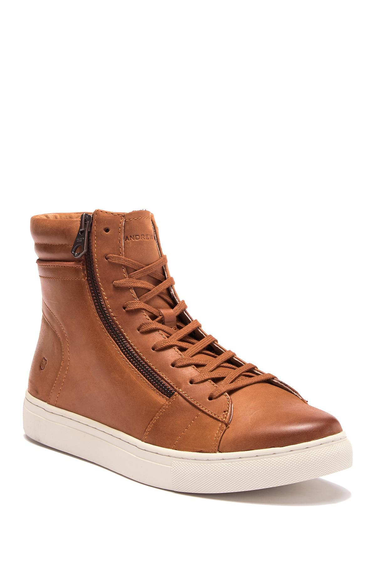 51ec841ca6a8 Lyst - Andrew Marc Remsen Sneaker in Brown for Men