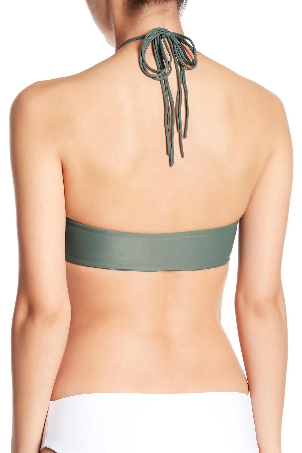 d71d3ab26d2b0 Mikoh Swimwear - Green West Oz Halter Bikini Top - Lyst. View fullscreen