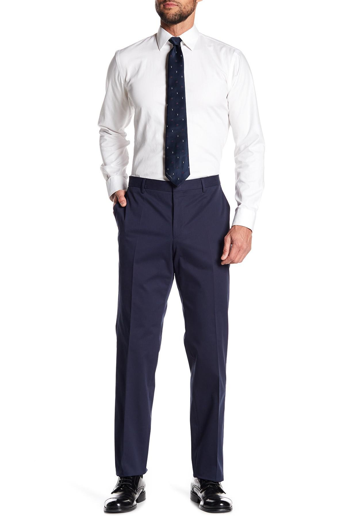 16e7346c1 Lyst - BOSS Benso Slim Fit Trousers in Blue for Men