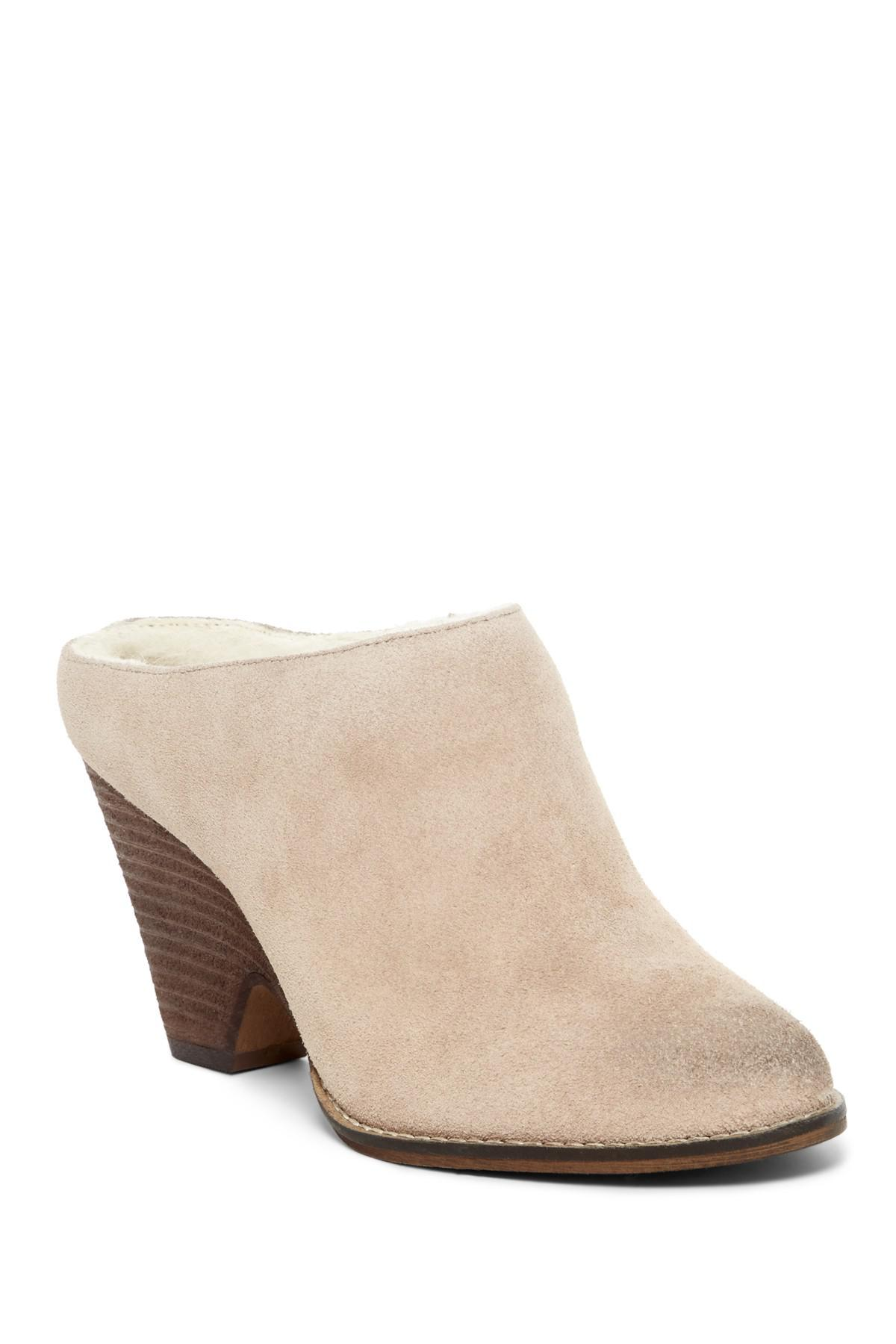 Kelsi Dagger Brooklyn Hocking Faux Sherling Lined Suede Mule