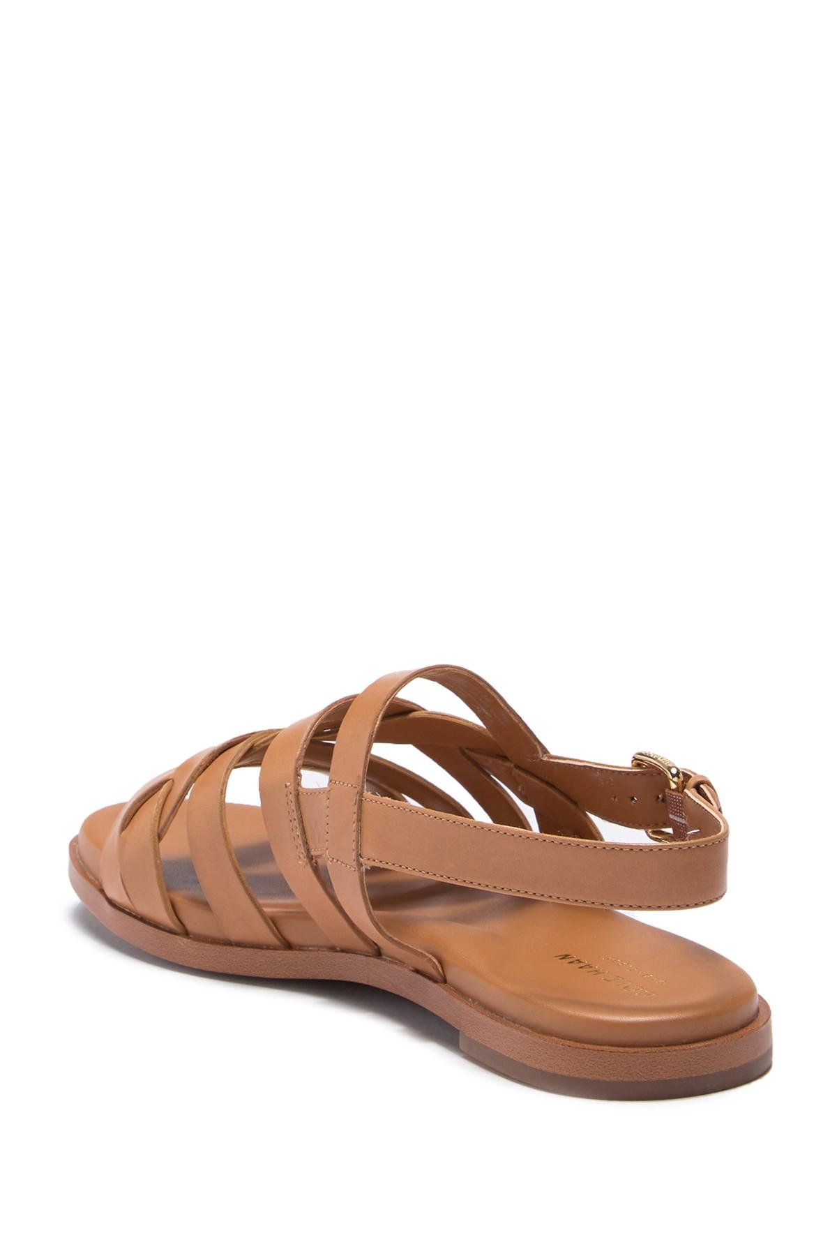 fdaf2d78a835 Cole Haan - Brown Braelyn Grand Braided Flat Sandal - Lyst. View fullscreen