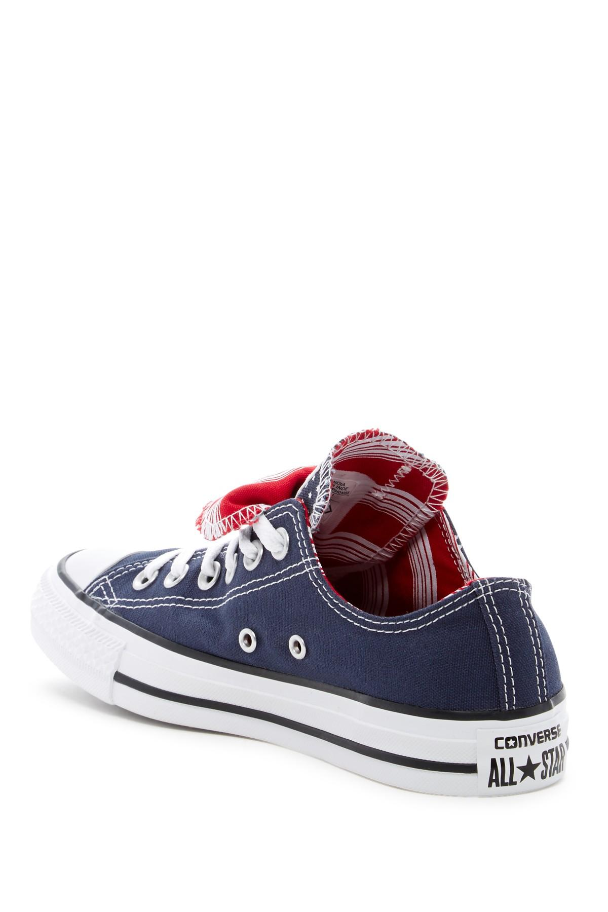 f3bde8c1cda8 Converse - Blue Chuck Taylor All Star Double Tongue Oxford Sneaker (women)  - Lyst. View fullscreen