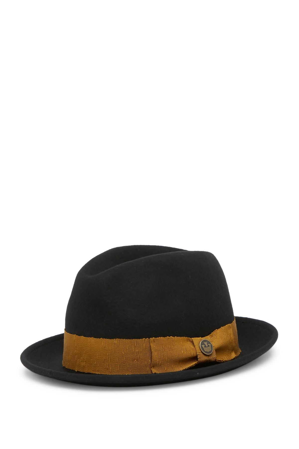 7aa242896 Goorin Bros Mr. Driver Wool Fedora in Black for Men - Lyst