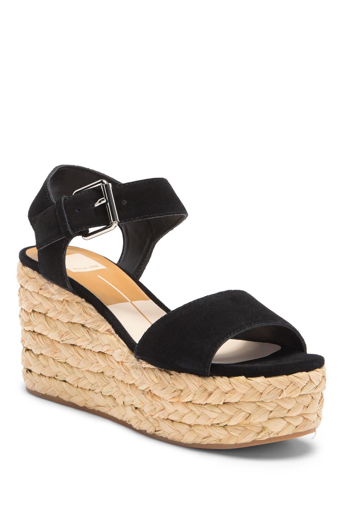 2d353942228 Dolce Vita Sacha Platform Wedge Sandal in Black - Lyst