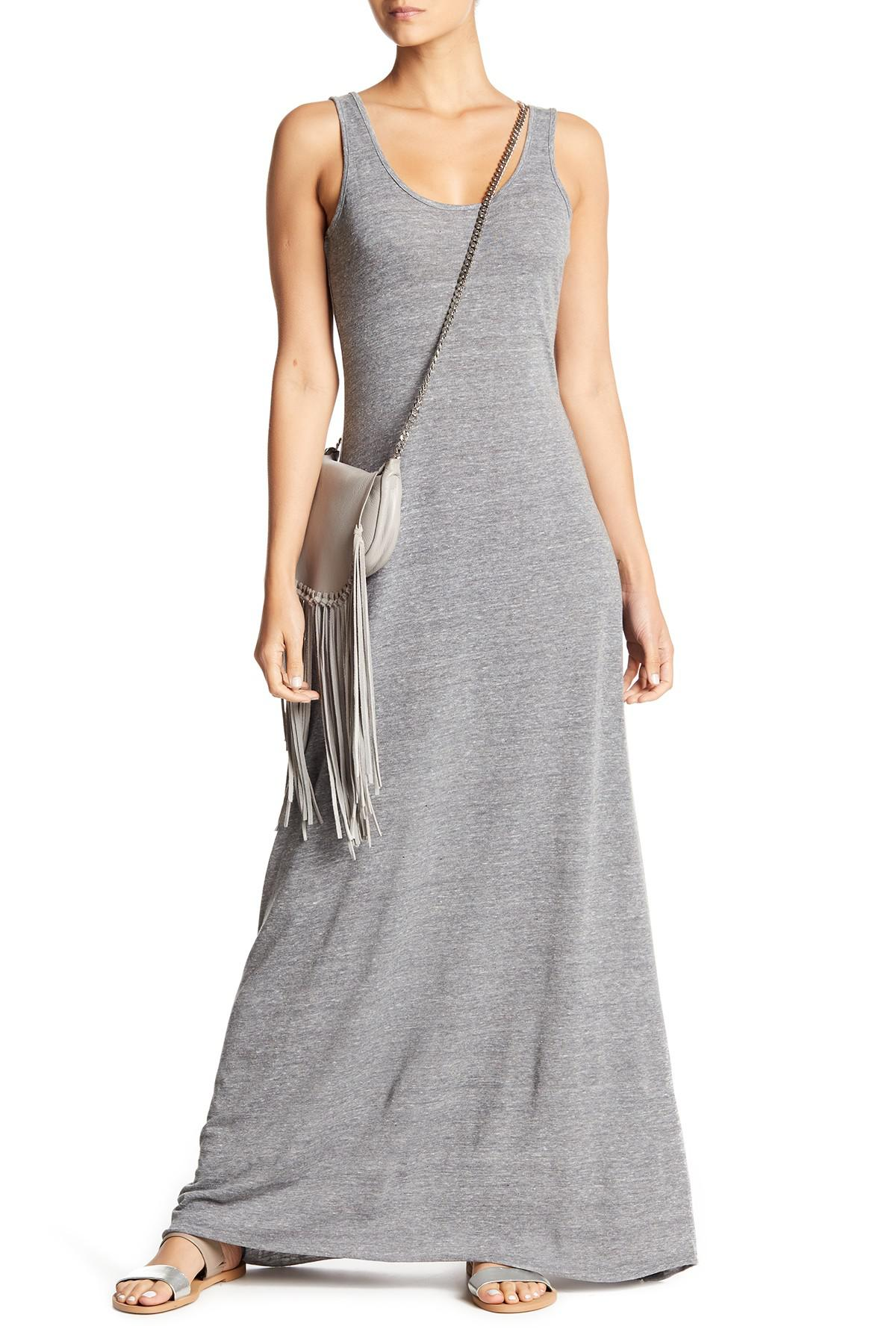645a21c60f7 Lyst - Alternative Apparel Scoop Neck Tank Maxi Dress in Gray