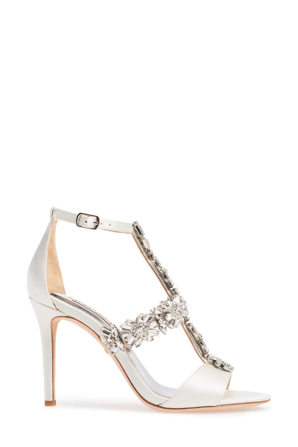 bd9ecb2703f Lyst - Badgley Mischka Munroe Embellished Sandal (women) in Metallic