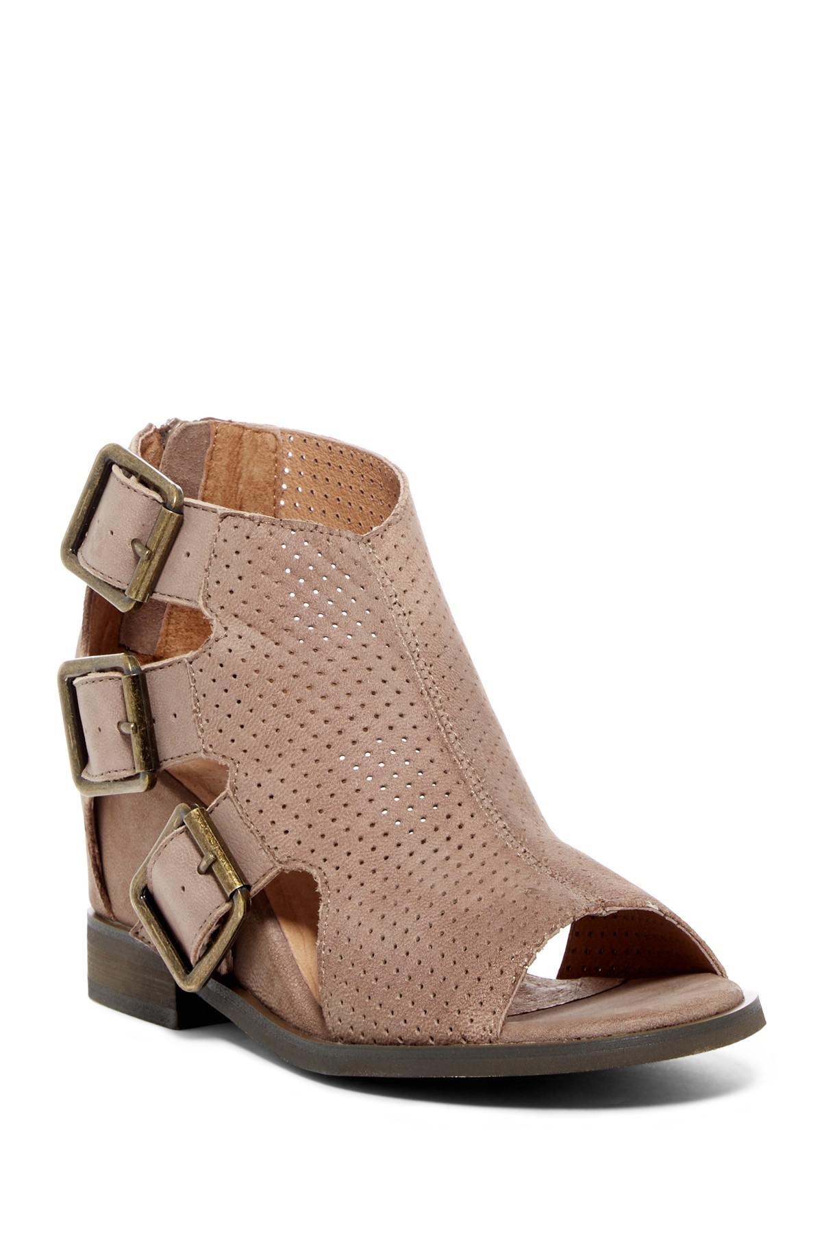 Lyst Chocolat Blu Nadia Perforated Leather Wedge Sandal