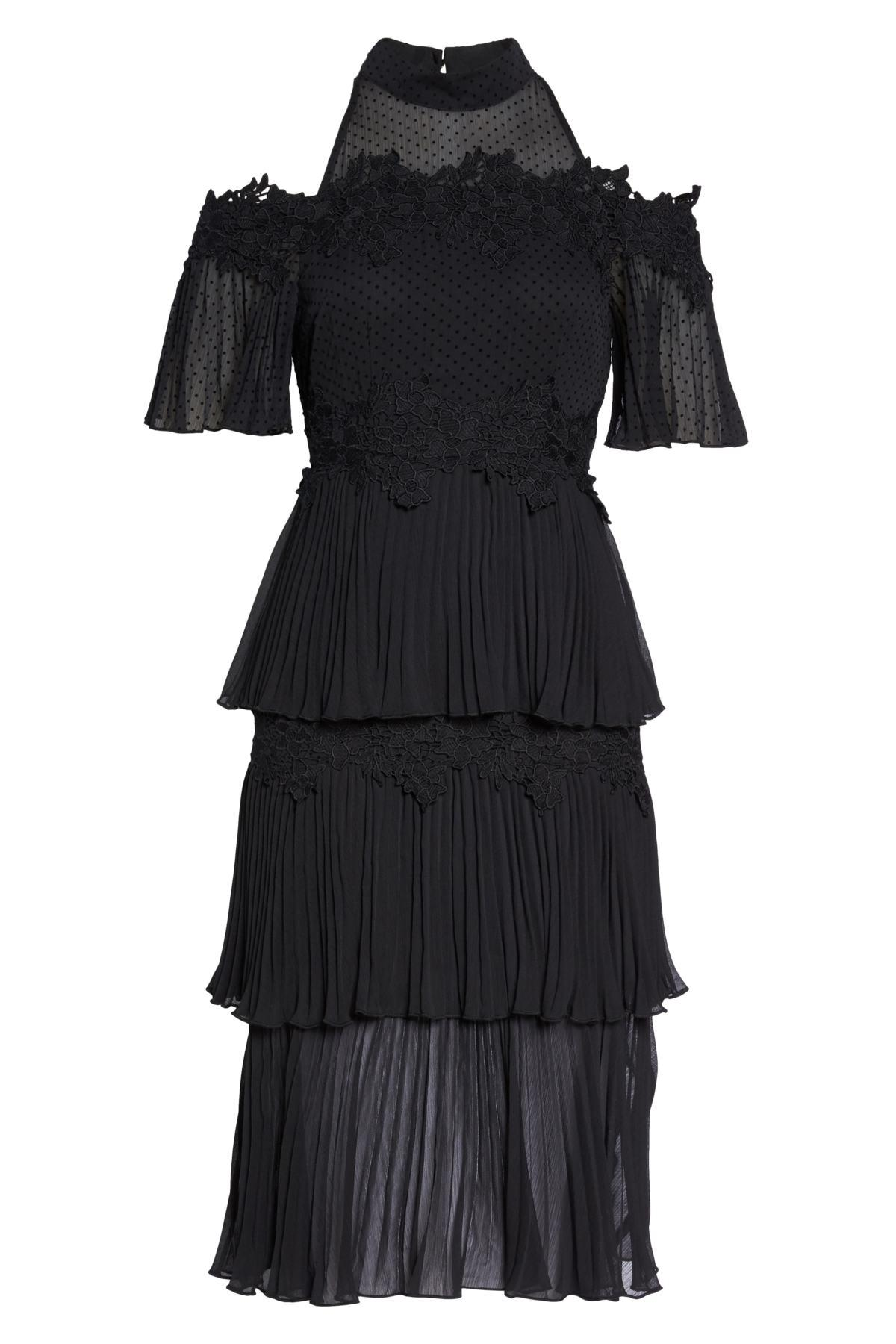 c37f10938e05 Keepsake Horizons Cold Shoulder Dress in Black - Lyst