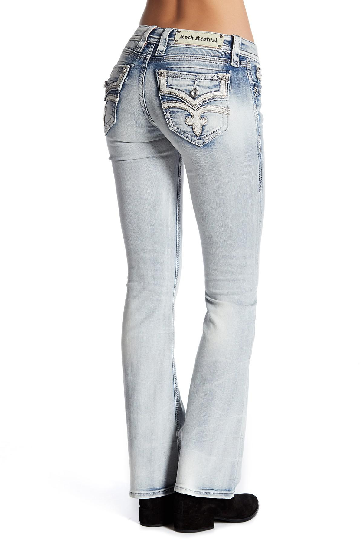 Rock Revival Faded Boot Cut Jeans in Blue - Lyst