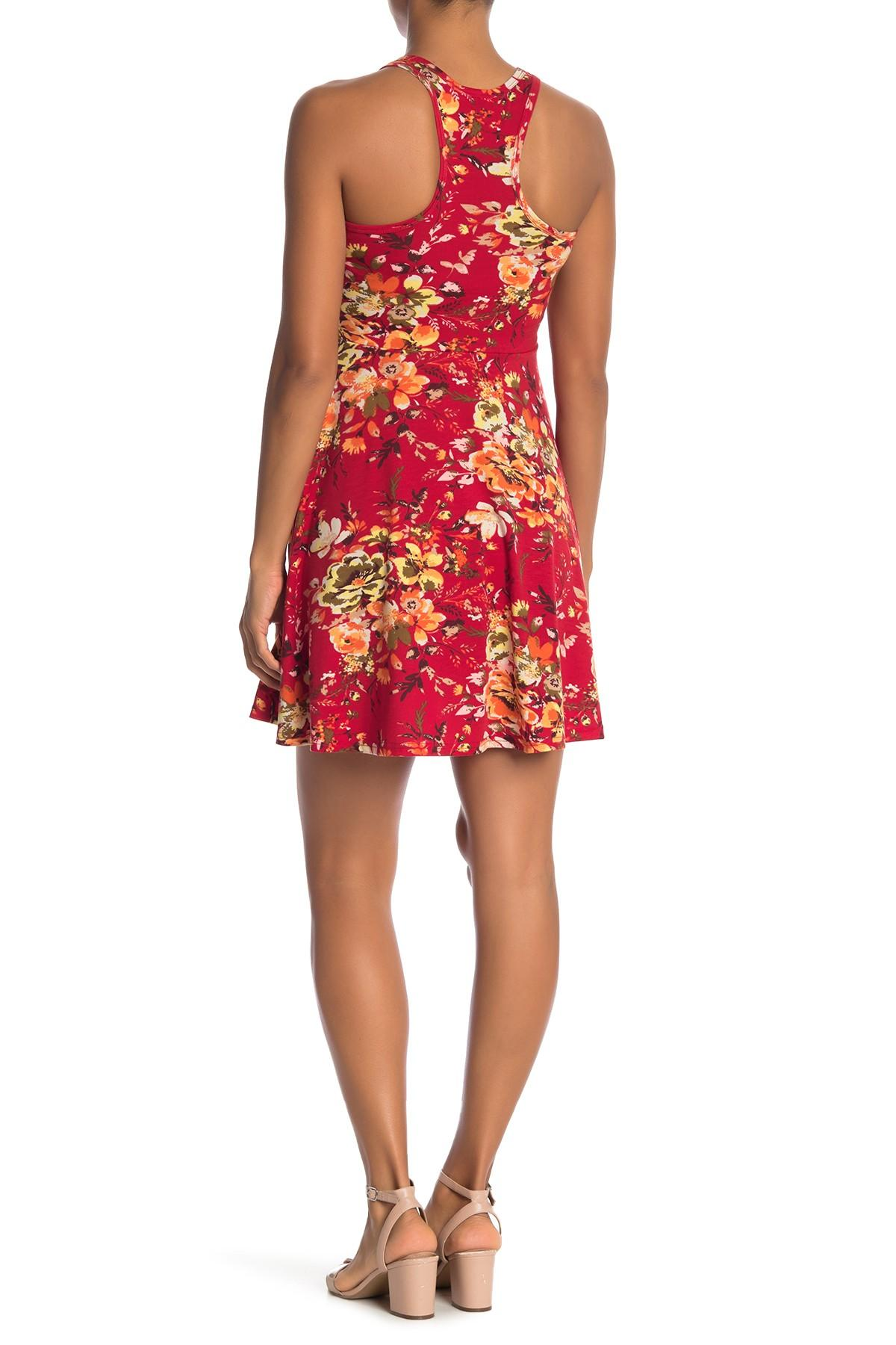 Angie - Red Racerback Knit Skater Dress - Lyst. View fullscreen 6d676a62c