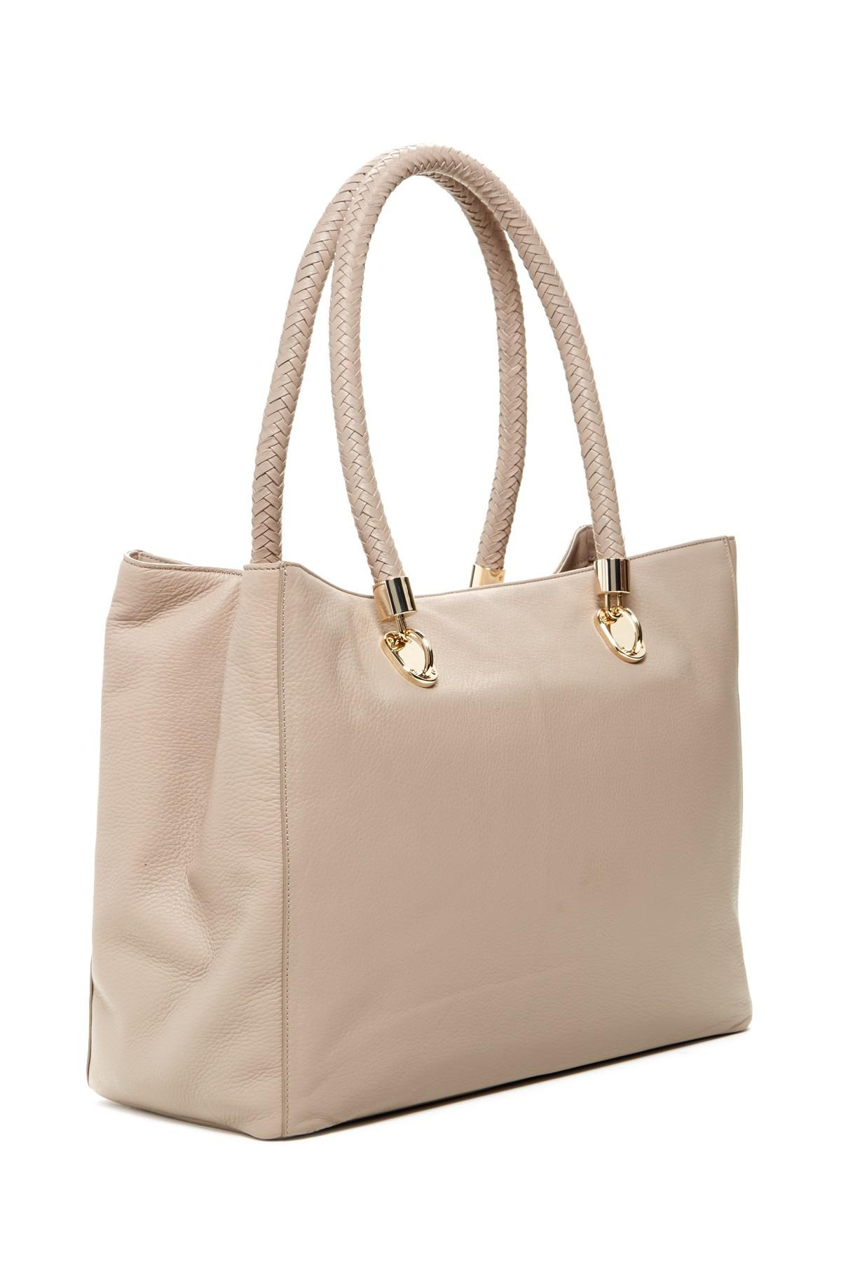 2d18bf85511 Lyst - Cole Haan Benson Large Leather Tote in Natural