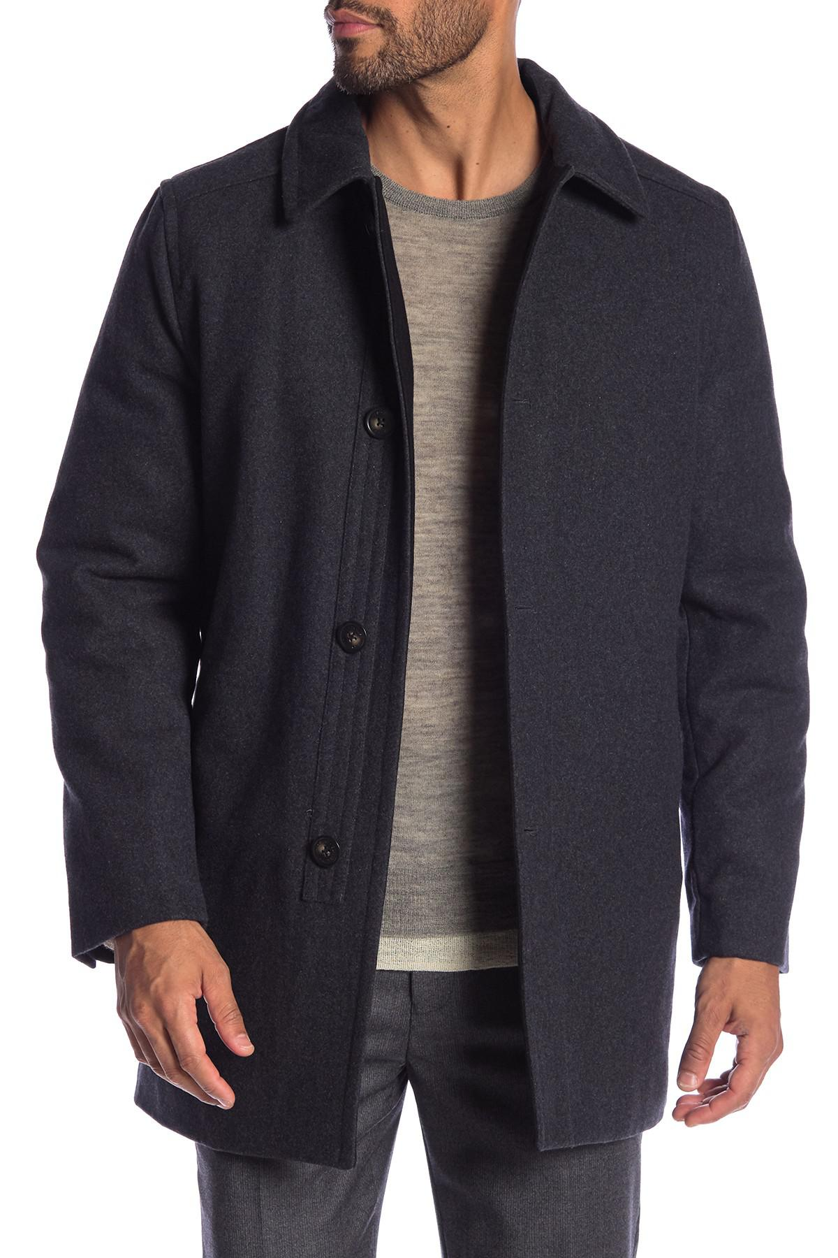 1c5fb24d7ce Lyst - Hart Schaffner Marx Barcelona Wool Blend Coat in Blue for Men