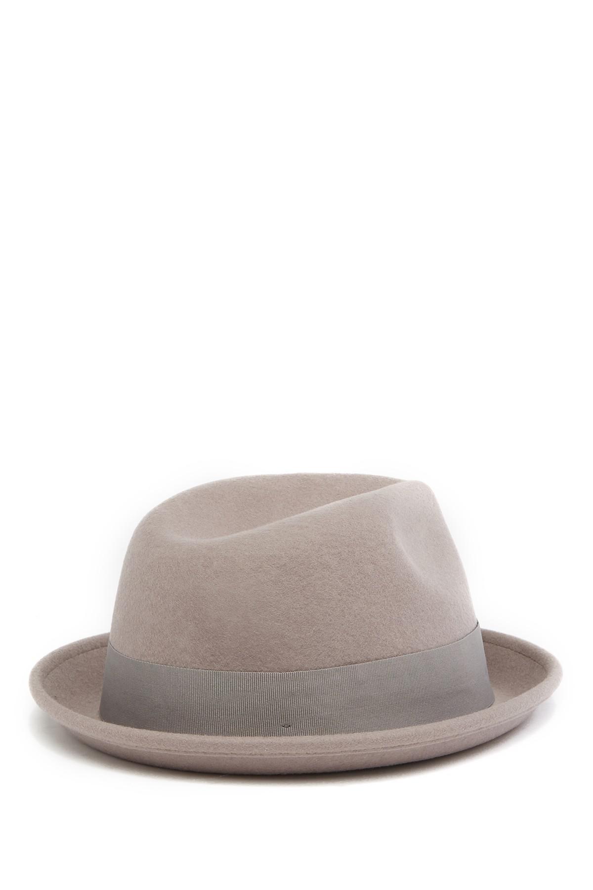 02e9bf1cd7854f Goorin Bros The Good Boy Felt Wool Fedora in Gray for Men - Lyst
