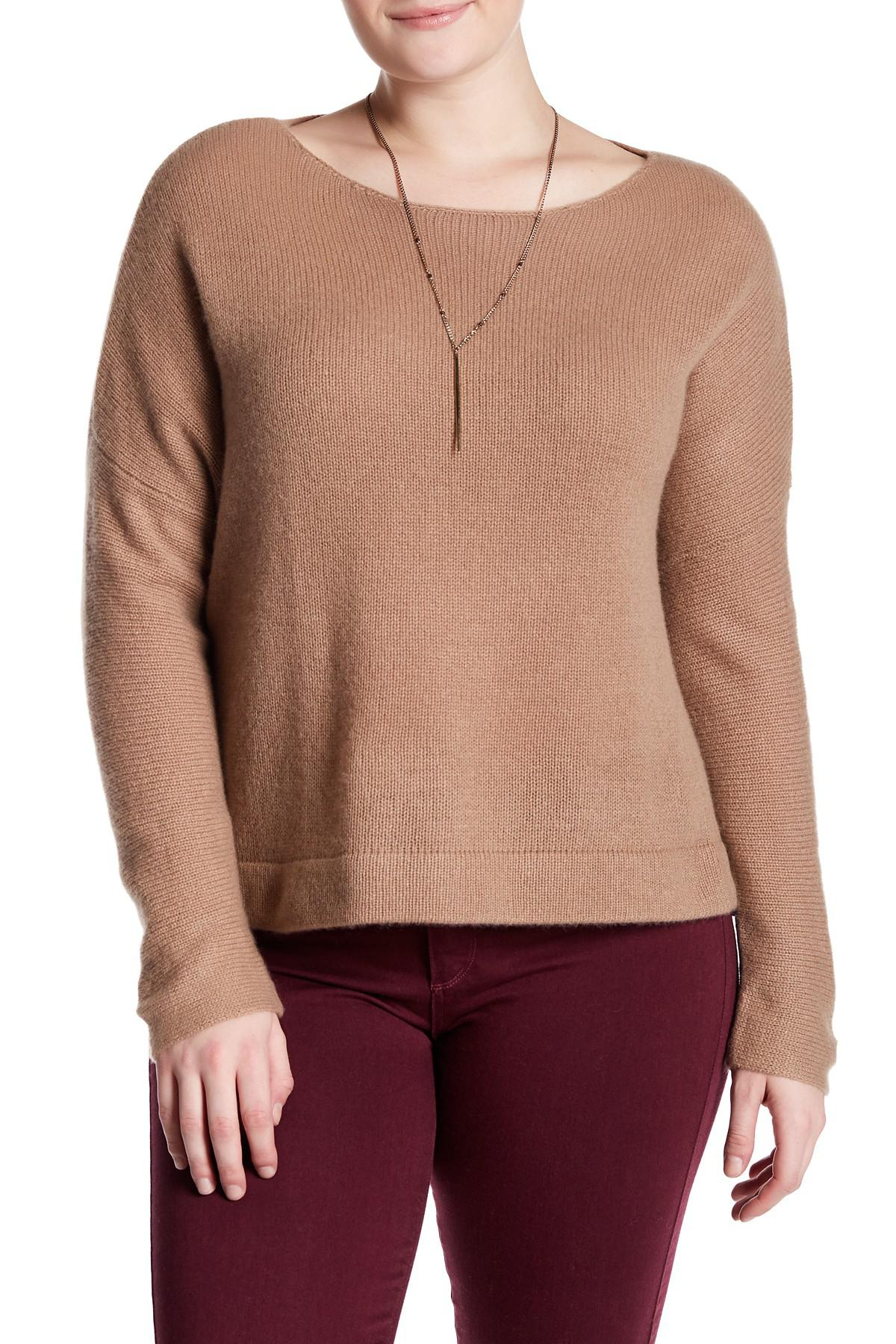 Lyst Naked Cashmere Katya Boatneck Cropped Cashmere Sweater Plus